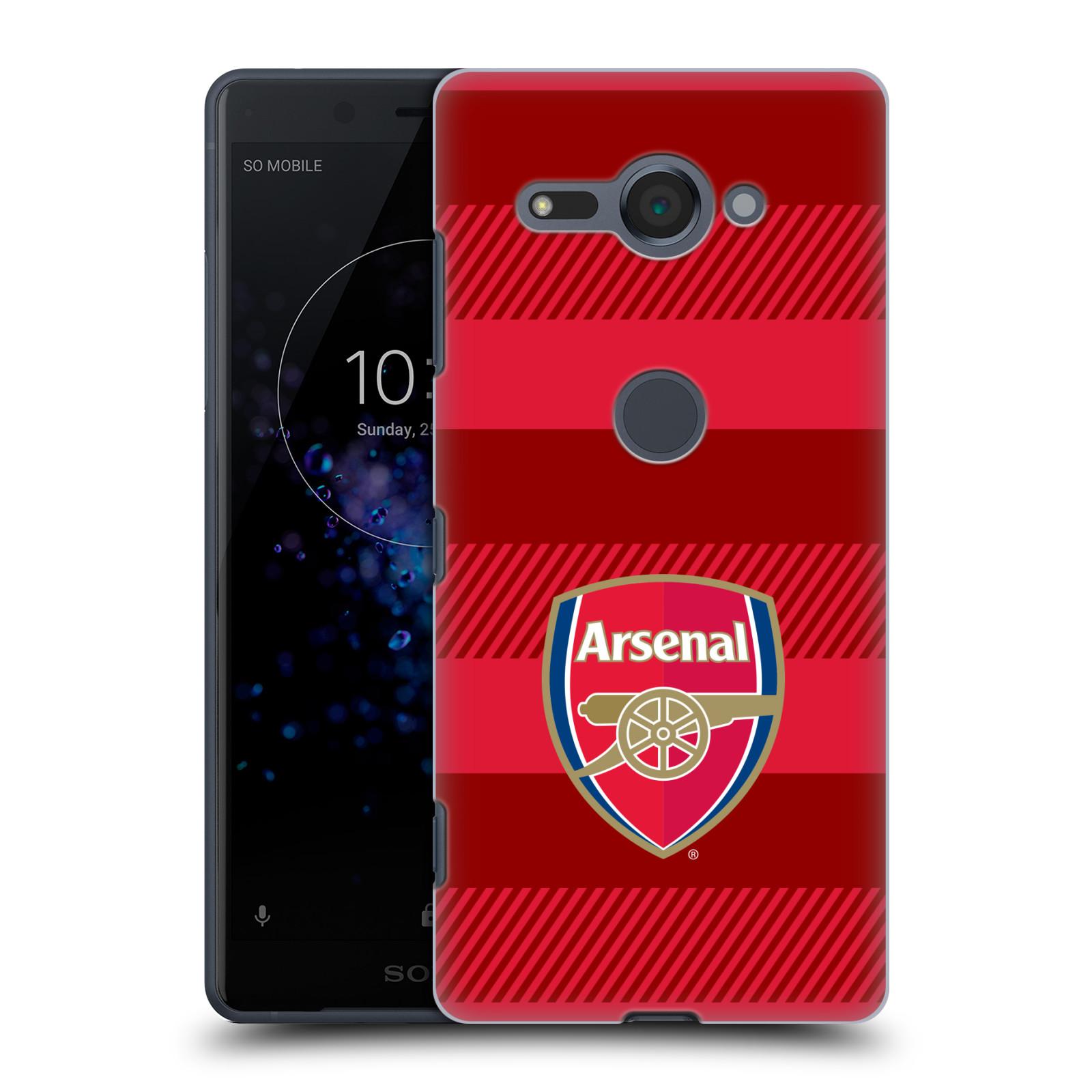 Plastové pouzdro na mobil Sony Xperia XZ2 Compact - Head Case - Arsenal FC - Logo s pruhy