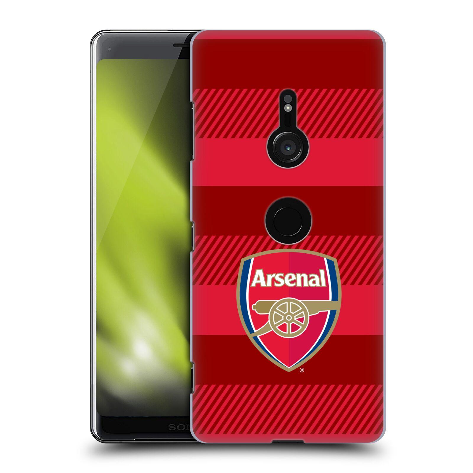 Plastové pouzdro na mobil Sony Xperia XZ3 - Head Case - Arsenal FC - Logo s pruhy