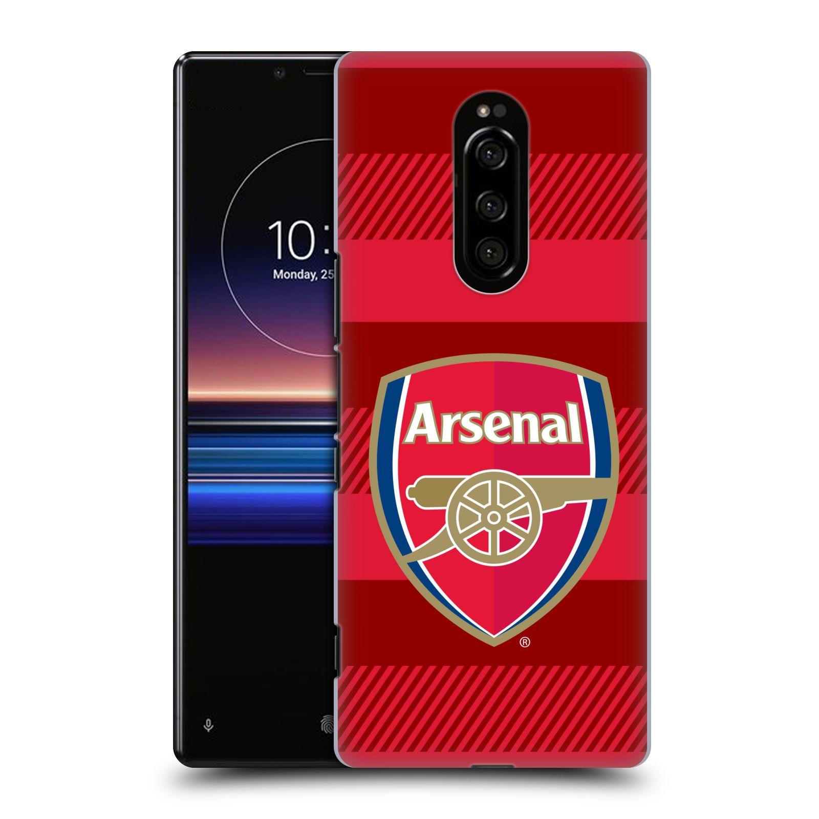 Plastové pouzdro na mobil Sony Xperia 1 - Head Case - Arsenal FC - Logo s pruhy