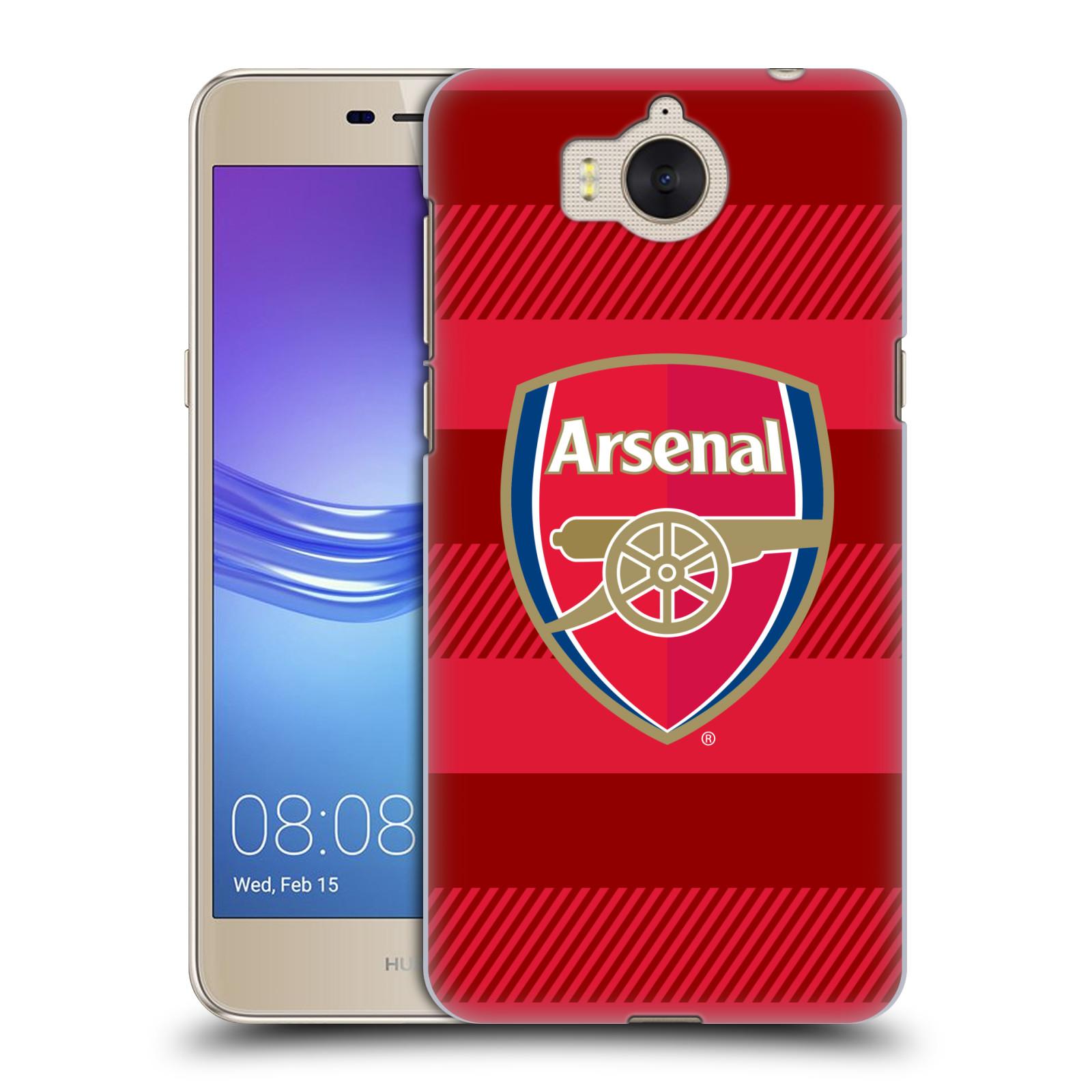 Plastové pouzdro na mobil Huawei Y6 2017 - Head Case - Arsenal FC - Logo s pruhy