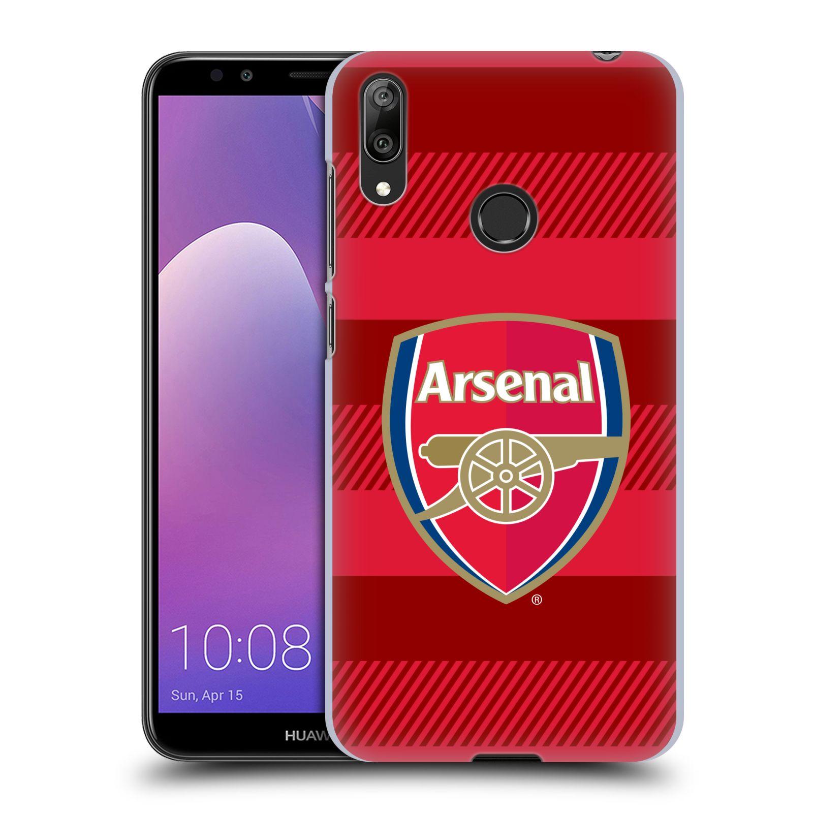 Plastové pouzdro na mobil Huawei Y7 (2019) - Head Case - Arsenal FC - Logo s pruhy