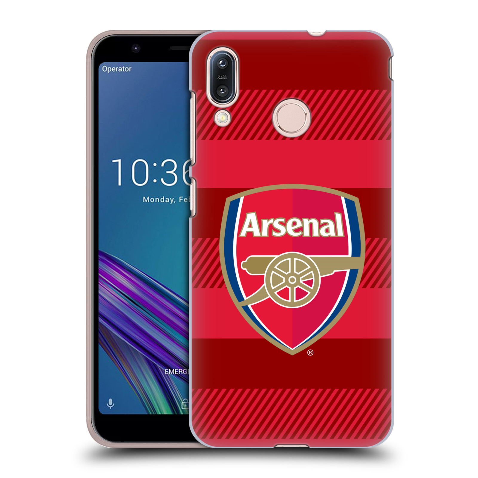 Plastové pouzdro na mobil Asus Zenfone Max M1 ZB555KL - Head Case - Arsenal FC - Logo s pruhy