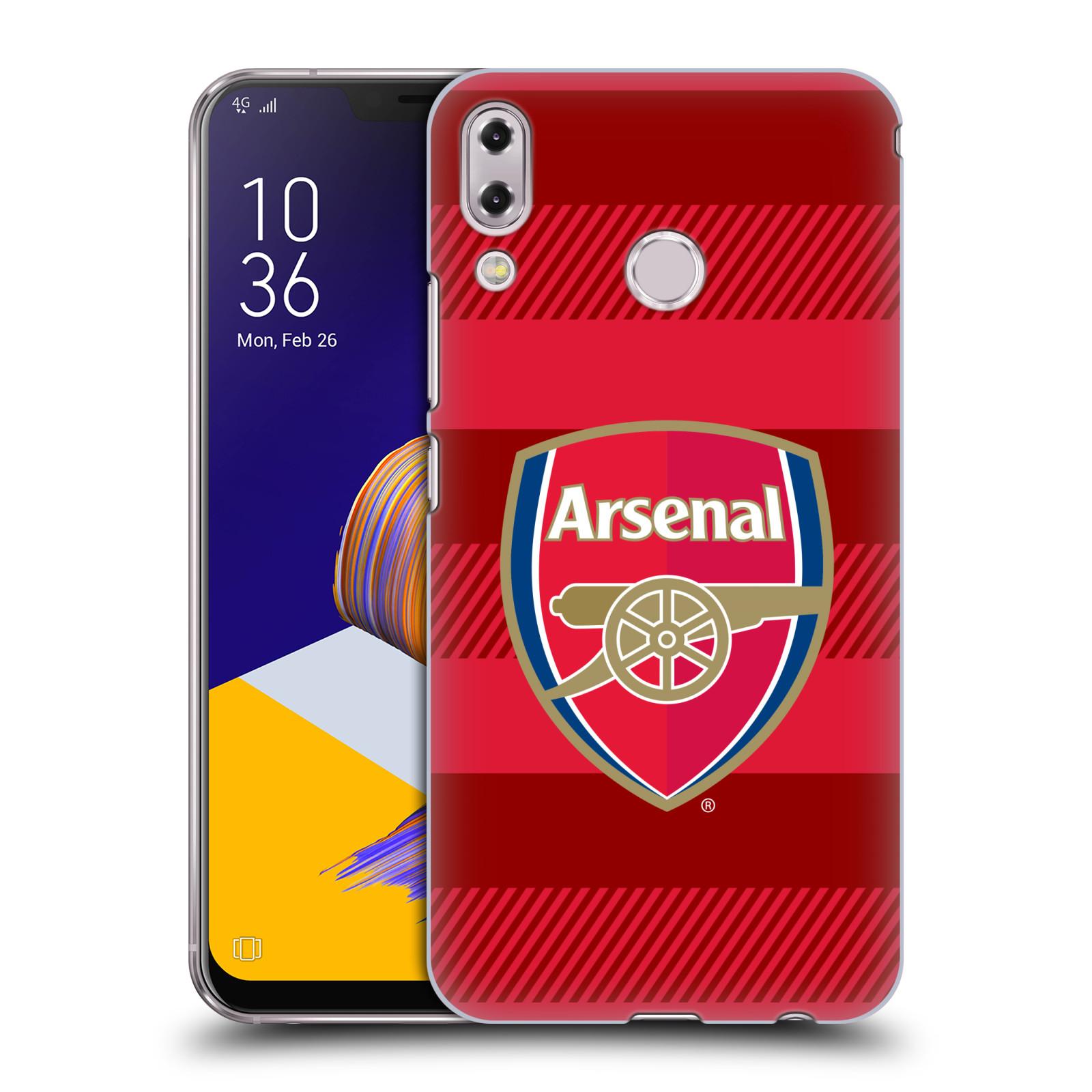 Plastové pouzdro na mobil Asus Zenfone 5z ZS620KL - Head Case - Arsenal FC - Logo s pruhy