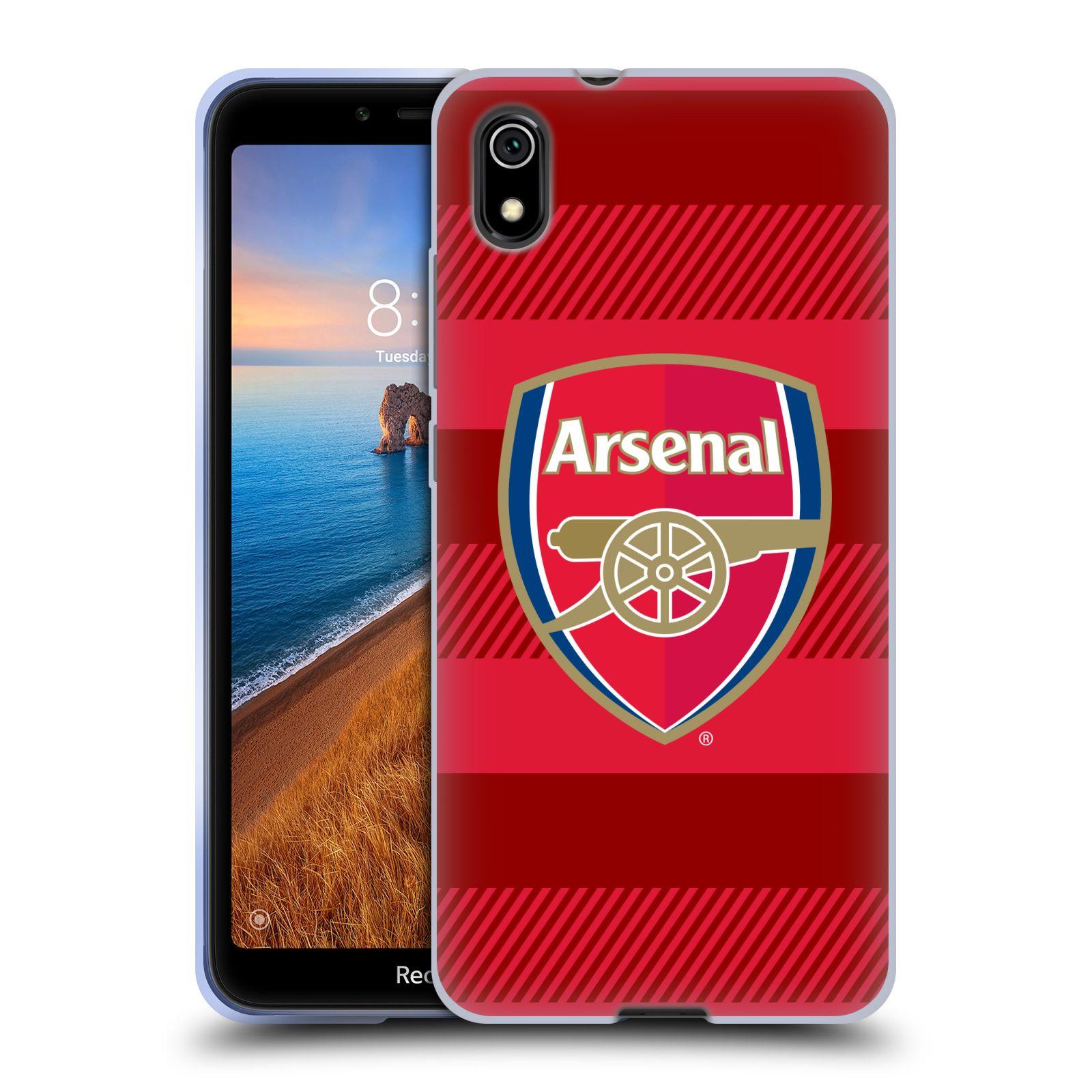 Silikonové pouzdro na mobil Redmi 7A - Head Case - Arsenal FC - Logo s pruhy