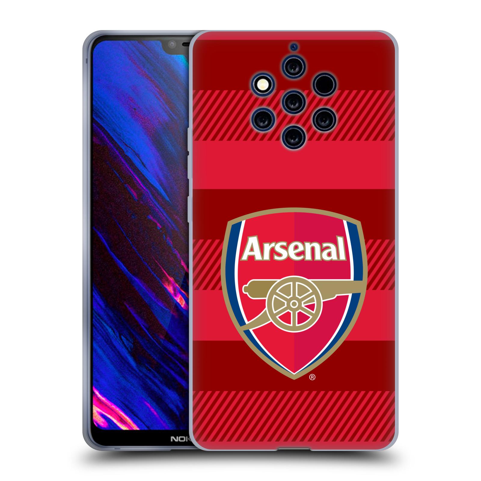 Silikonové pouzdro na mobil Nokia 9 PureView - Head Case - Arsenal FC - Logo s pruhy