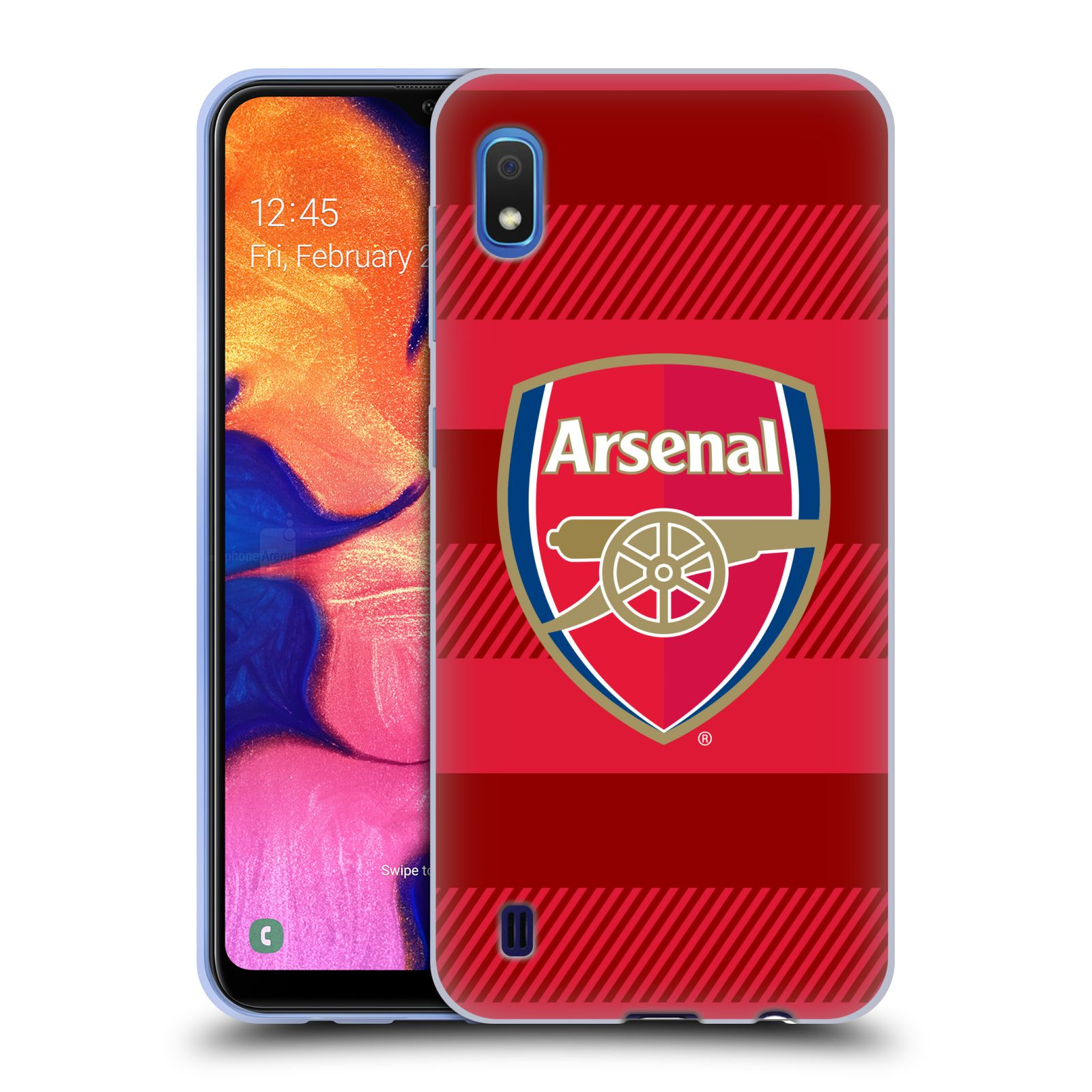 Silikonové pouzdro na mobil Samsung Galaxy A10 - Head Case - Arsenal FC - Logo s pruhy