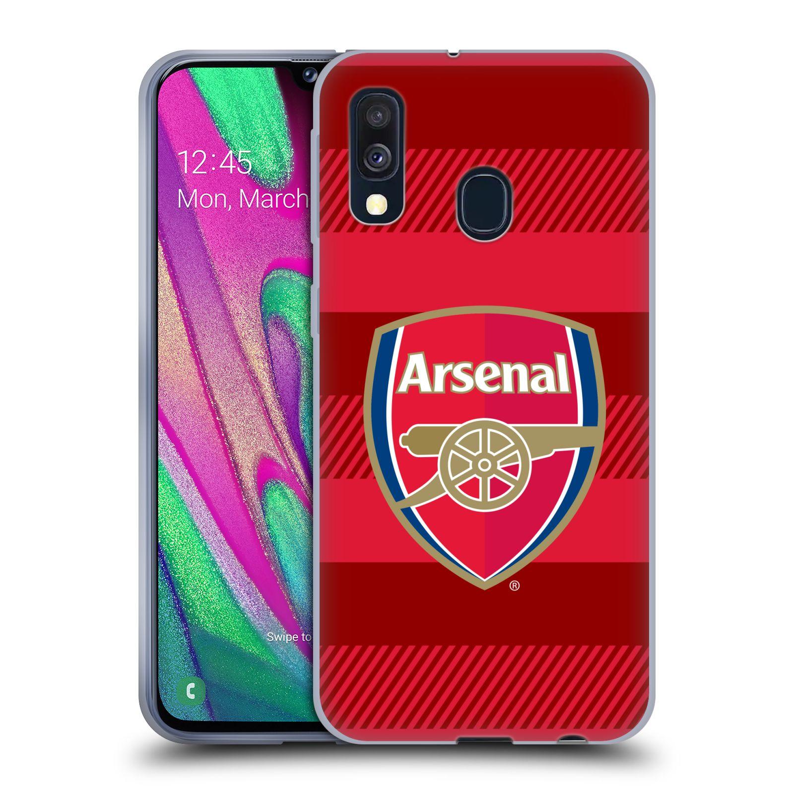 Silikonové pouzdro na mobil Samsung Galaxy A40 - Head Case - Arsenal FC - Logo s pruhy