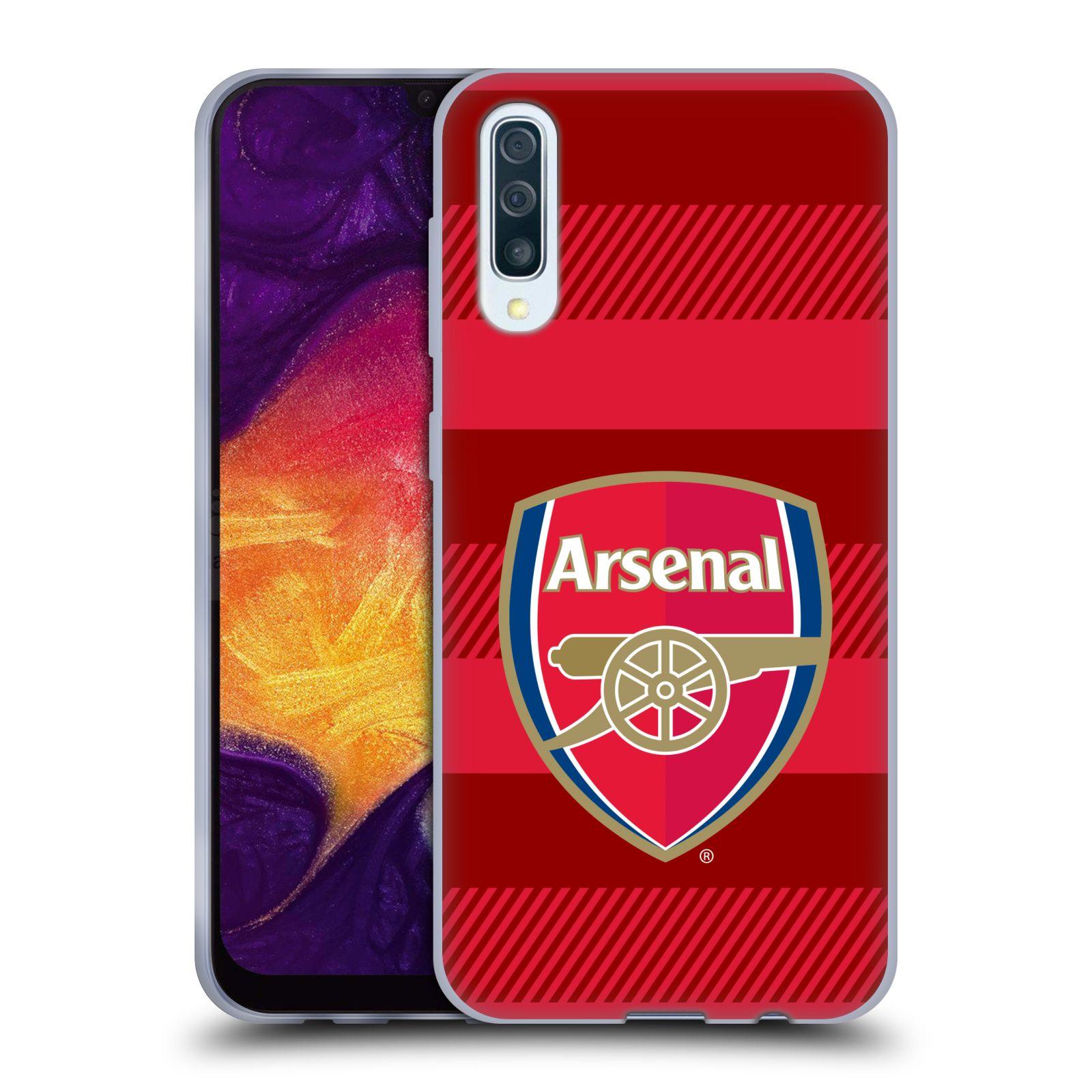 Silikonové pouzdro na mobil Samsung Galaxy A50 / A30s - Head Case - Arsenal FC - Logo s pruhy