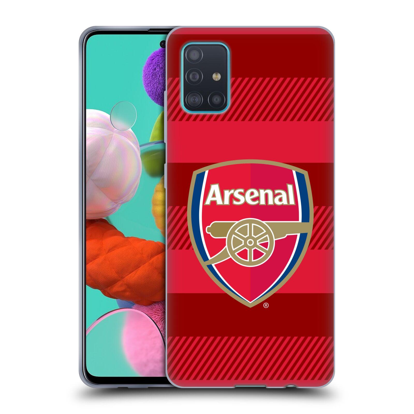 Silikonové pouzdro na mobil Samsung Galaxy A51 - Head Case - Arsenal FC - Logo s pruhy