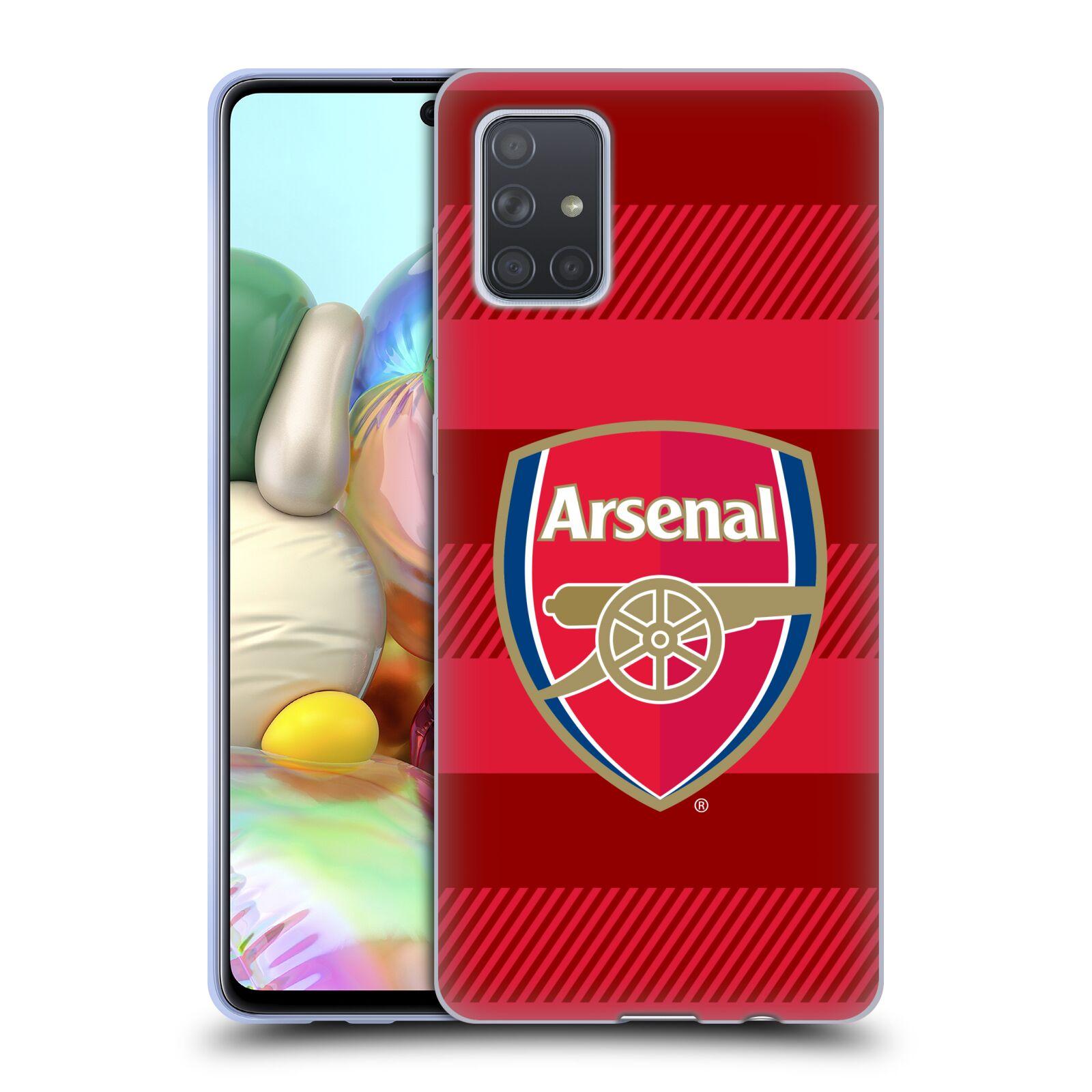 Silikonové pouzdro na mobil Samsung Galaxy A71 - Head Case - Arsenal FC - Logo s pruhy