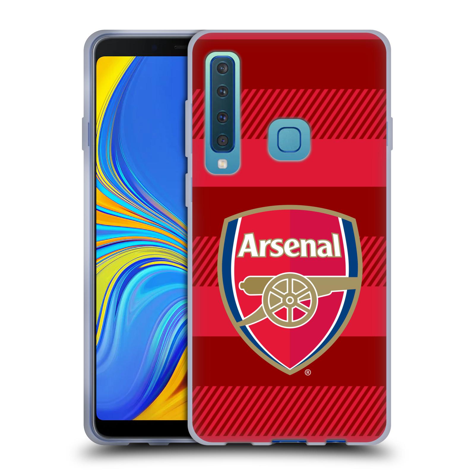 Silikonové pouzdro na mobil Samsung Galaxy A9 (2018) - Head Case - Arsenal FC - Logo s pruhy