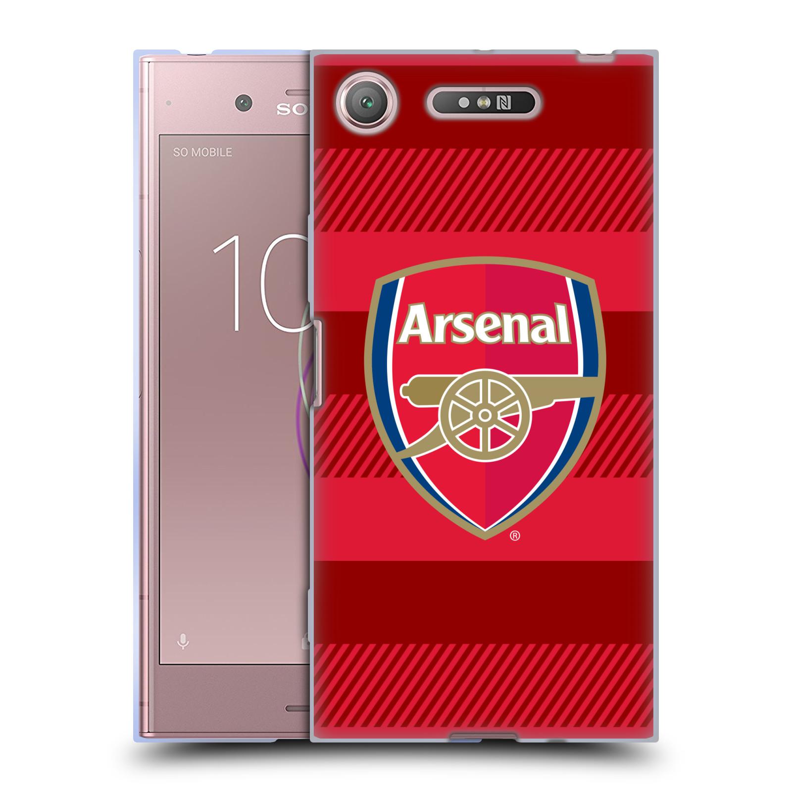 Silikonové pouzdro na mobil Sony Xperia XZ1 - Head Case - Arsenal FC - Logo s pruhy
