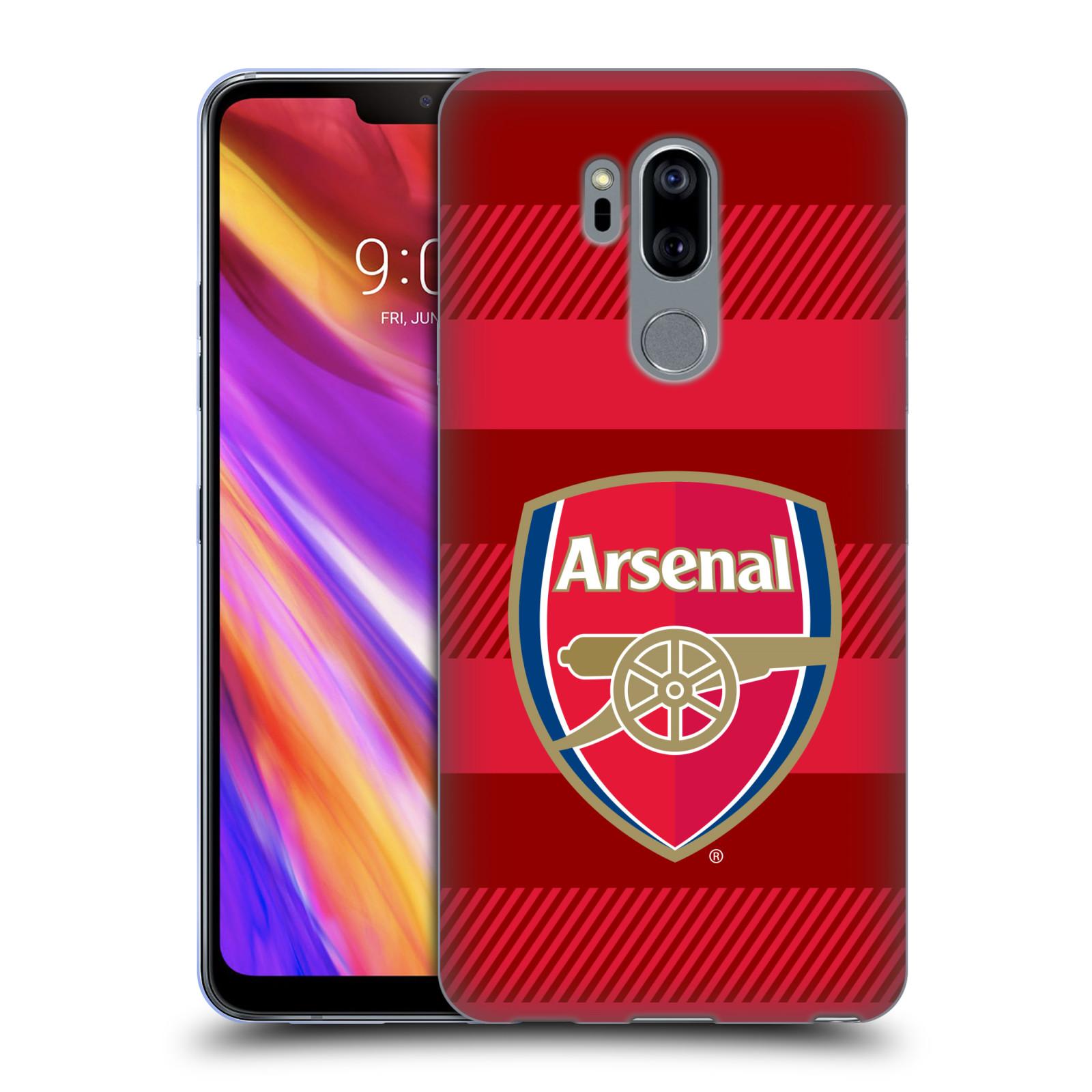 Silikonové pouzdro na mobil LG G7 ThinQ - Head Case - Arsenal FC - Logo s pruhy