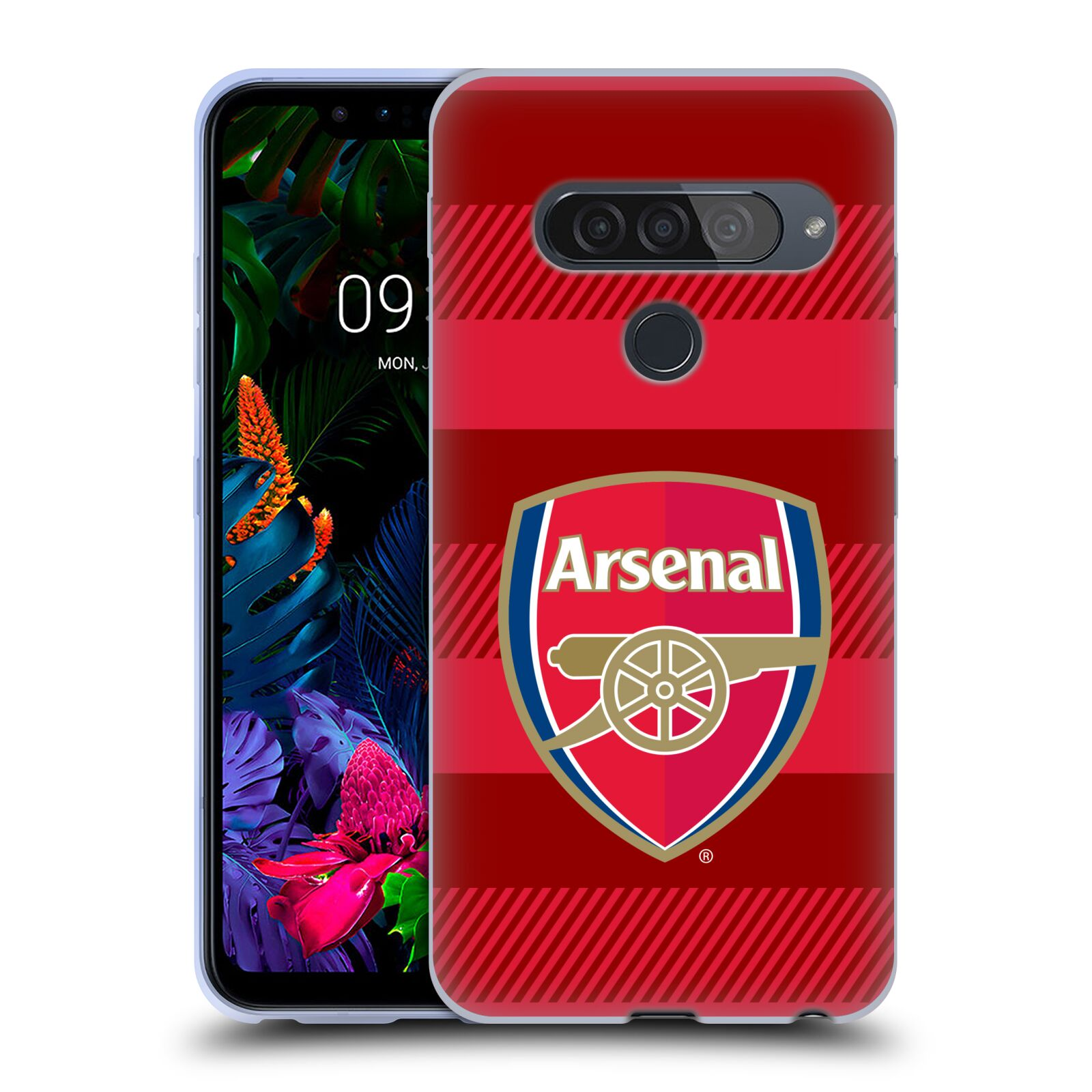 Silikonové pouzdro na mobil LG G8s ThinQ - Head Case - Arsenal FC - Logo s pruhy