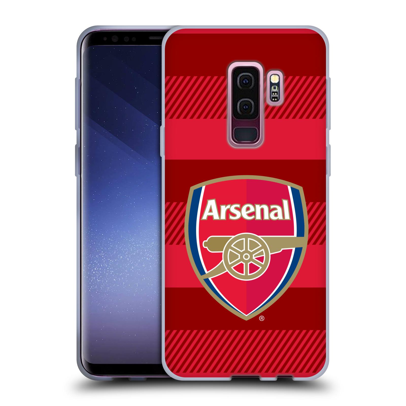Silikonové pouzdro na mobil Samsung Galaxy S9 Plus - Head Case - Arsenal FC - Logo s pruhy