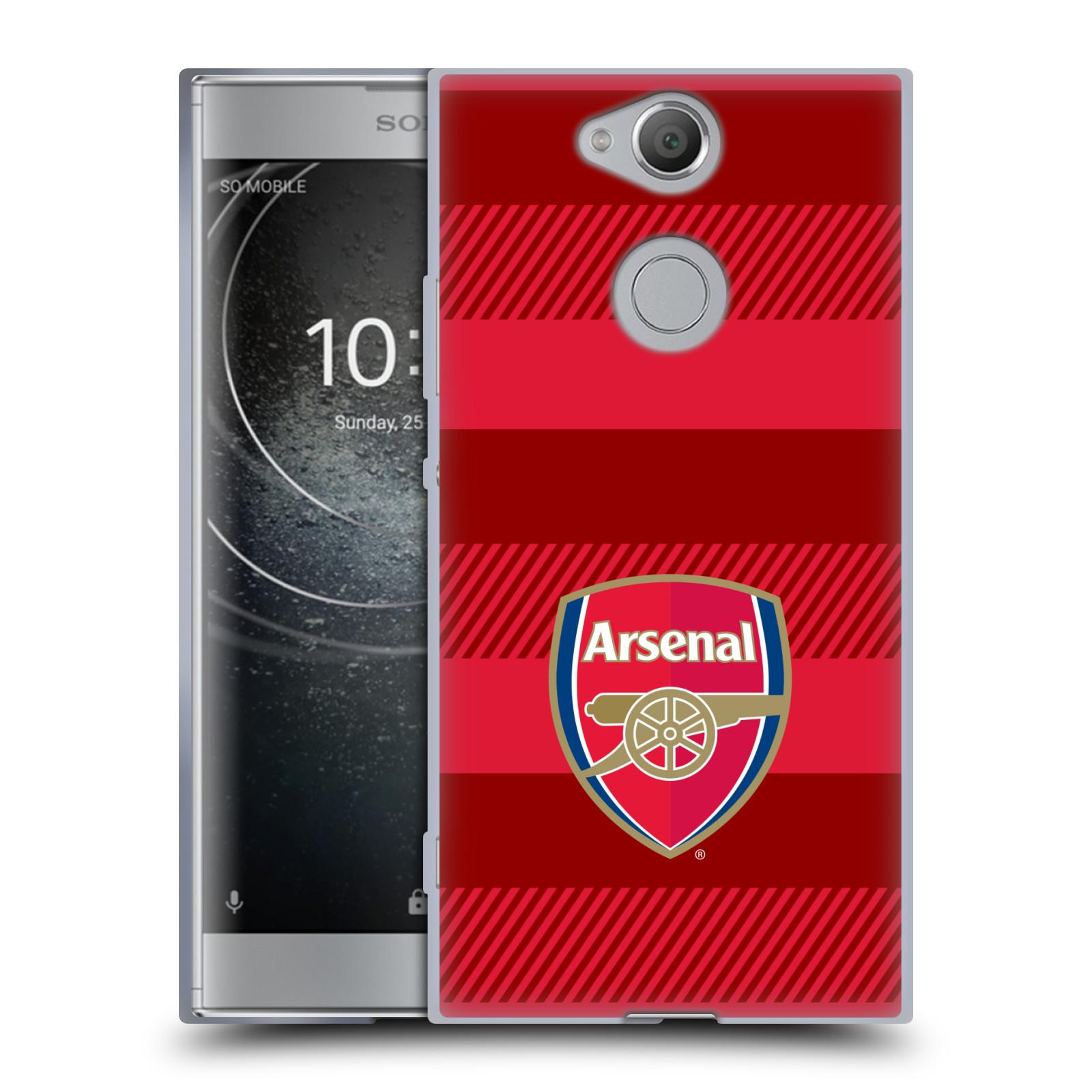 Silikonové pouzdro na mobil Sony Xperia XA2 - Head Case - Arsenal FC - Logo s pruhy