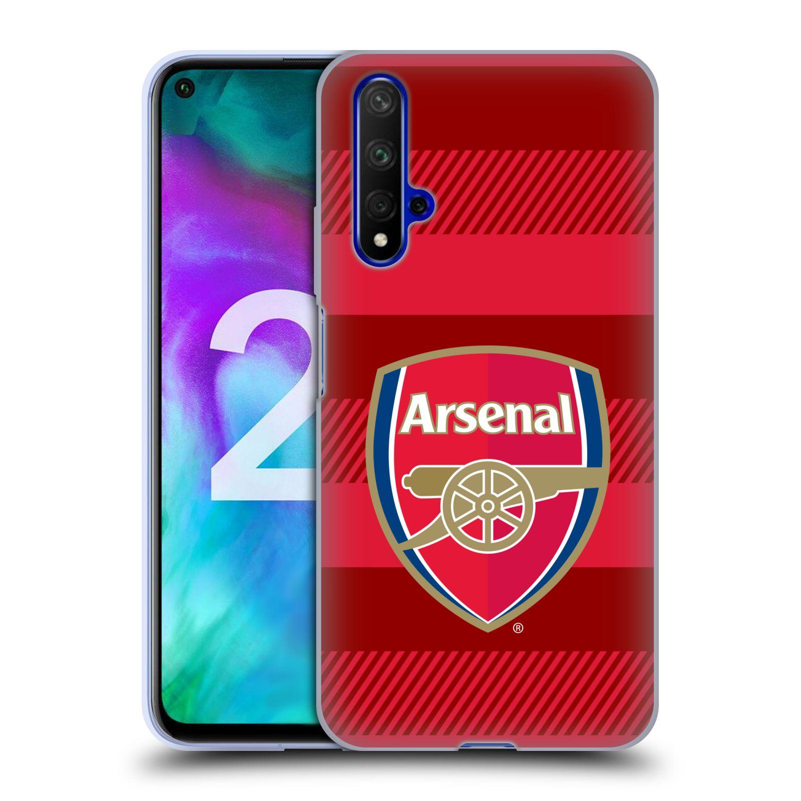 Silikonové pouzdro na mobil Honor 20 - Head Case - Arsenal FC - Logo s pruhy