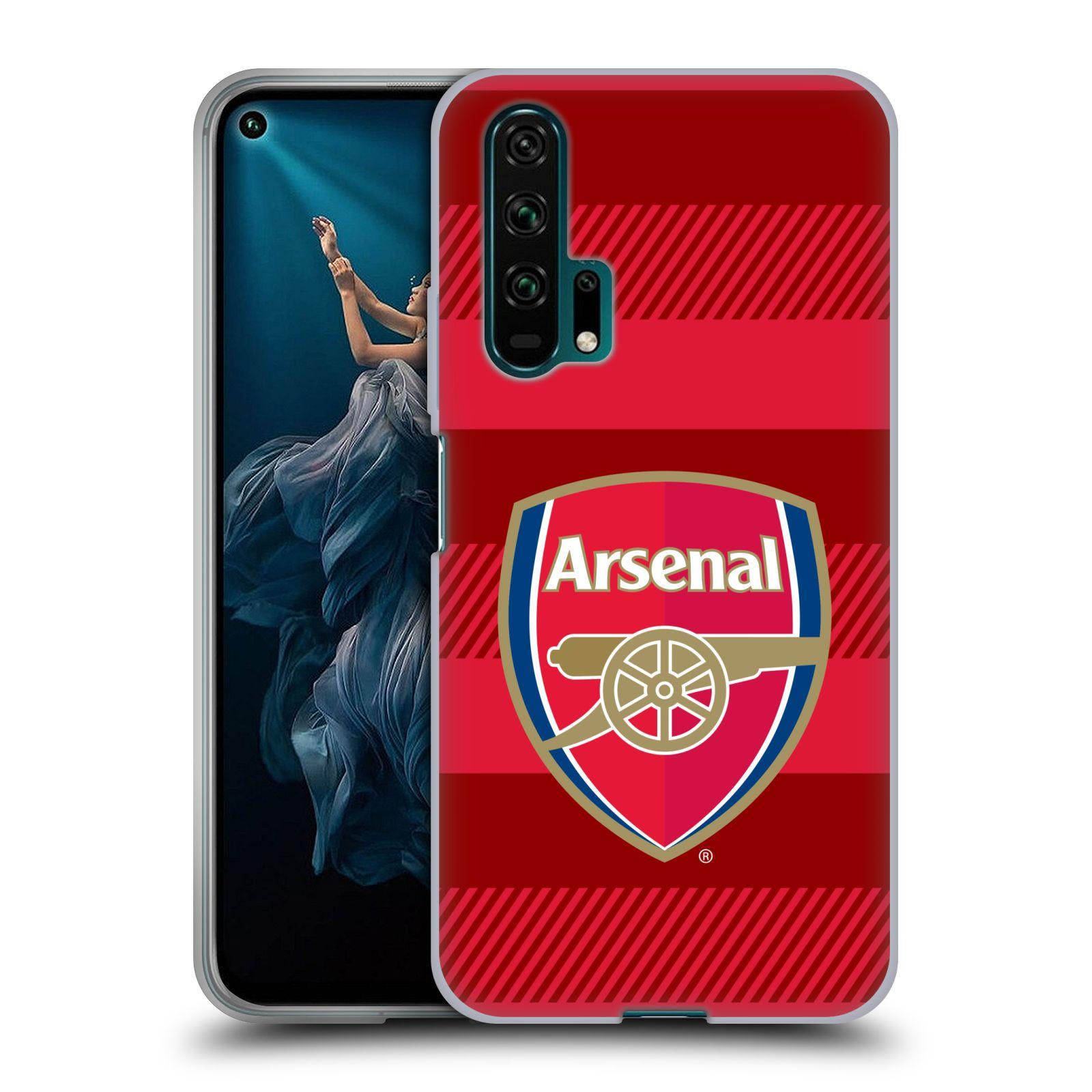 Silikonové pouzdro na mobil Honor 20 Pro - Head Case - Arsenal FC - Logo s pruhy