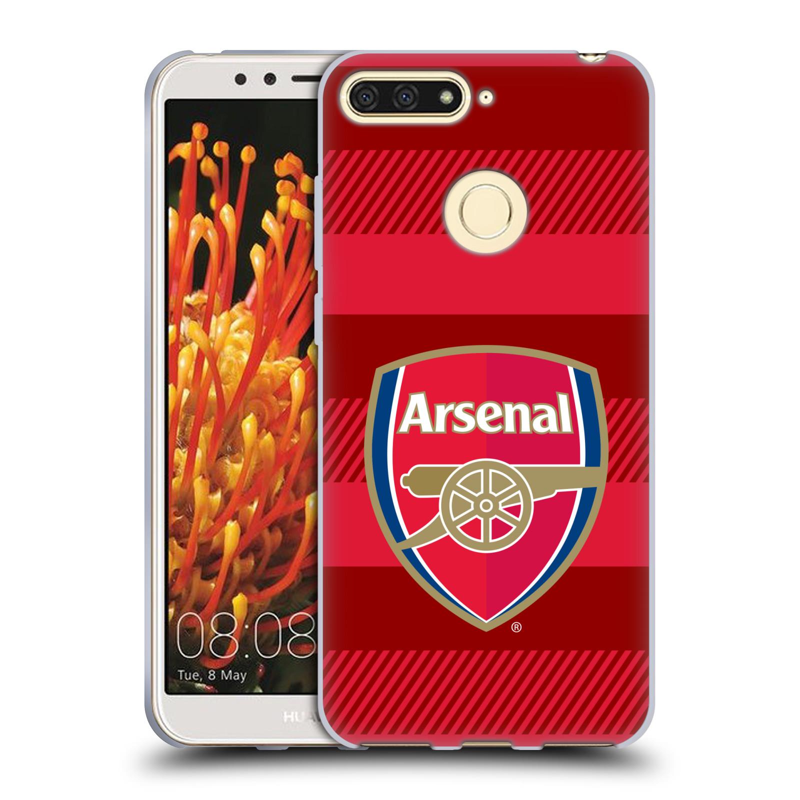 Silikonové pouzdro na mobil Huawei Y6 Prime (2018) - Head Case - Arsenal FC - Logo s pruhy