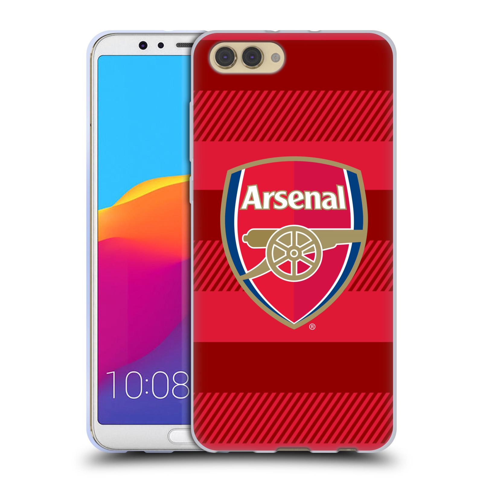 Silikonové pouzdro na mobil Honor View 10 - Head Case - Arsenal FC - Logo s pruhy