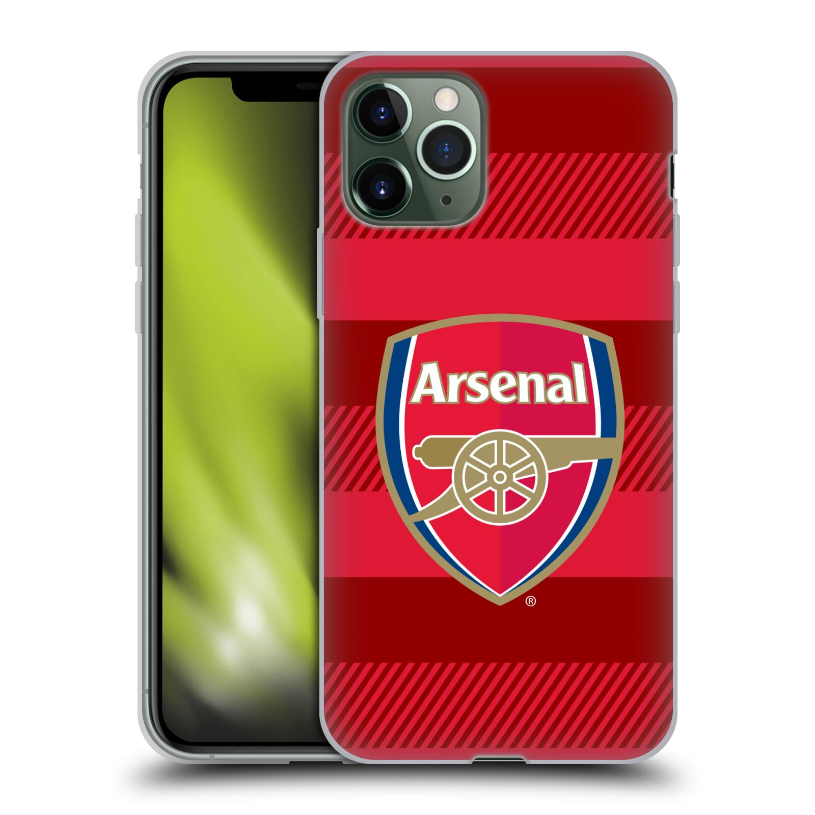 cover gucci iphone 7 originale | Silikonové pouzdro na mobil Apple iPhone 11 Pro - Head Case - Arsenal FC - Logo s pruhy