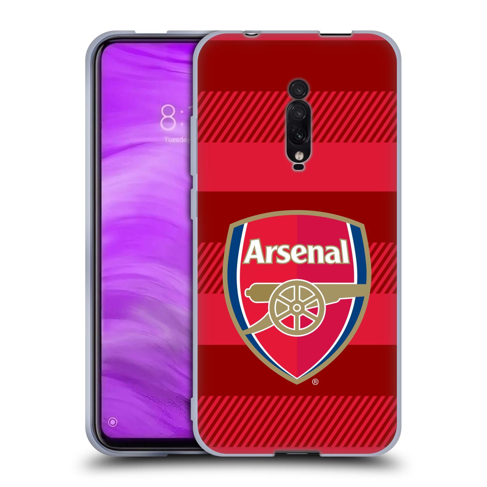 Silikonové pouzdro na mobil Xiaomi Mi 9T - Head Case - Arsenal FC - Logo s pruhy