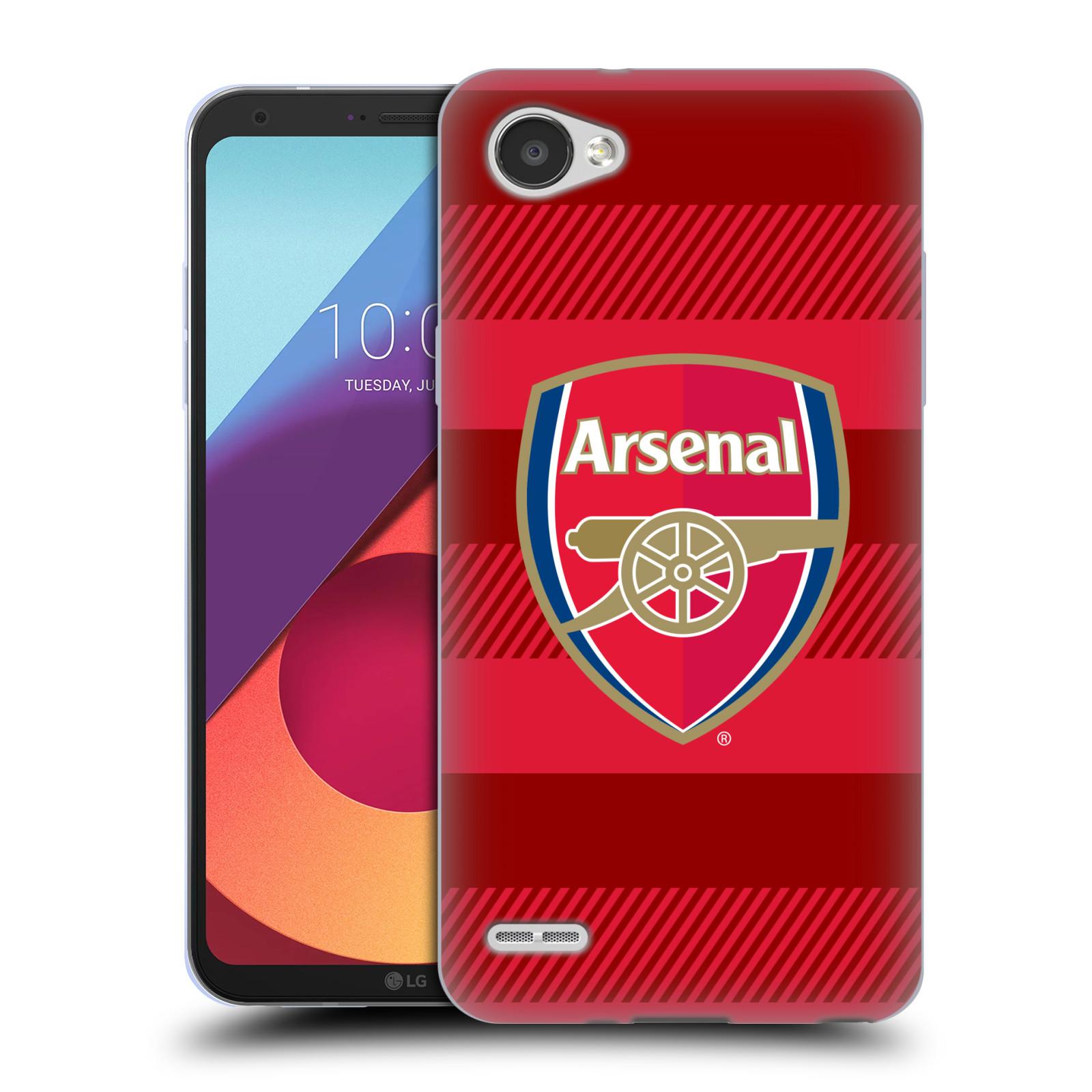 Silikonové pouzdro na mobil LG Q6 - Head Case - Arsenal FC - Logo s pruhy