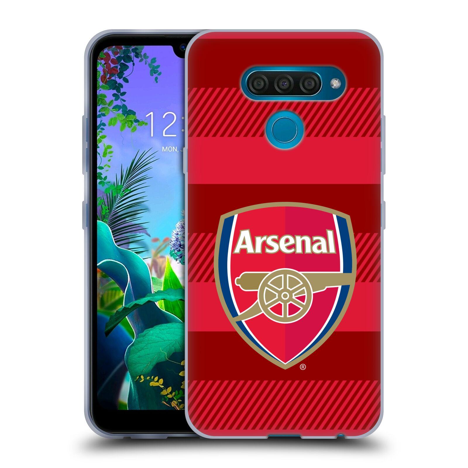 Silikonové pouzdro na mobil LG Q60 - Head Case - Arsenal FC - Logo s pruhy
