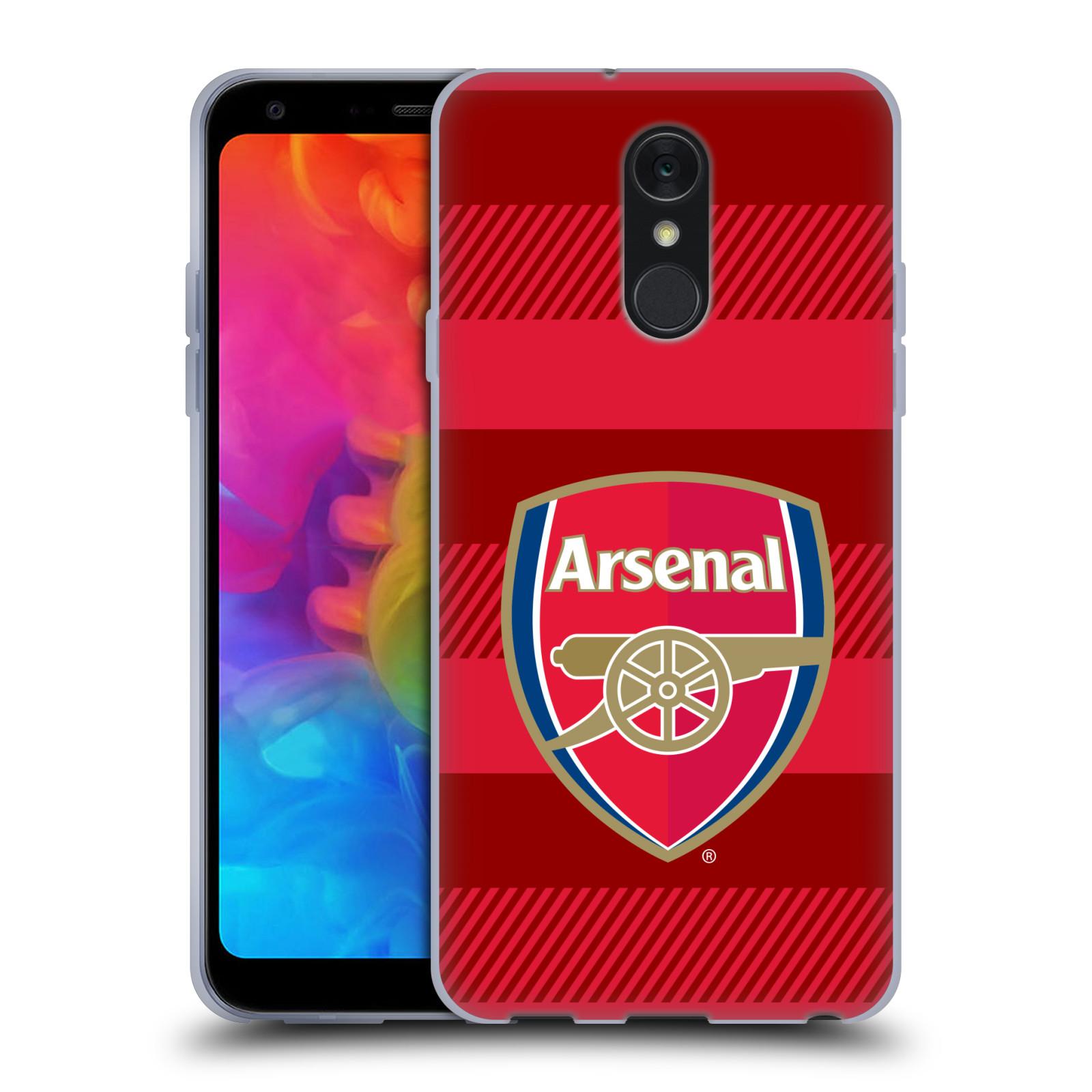 Silikonové pouzdro na mobil LG Q7 - Head Case - Arsenal FC - Logo s pruhy