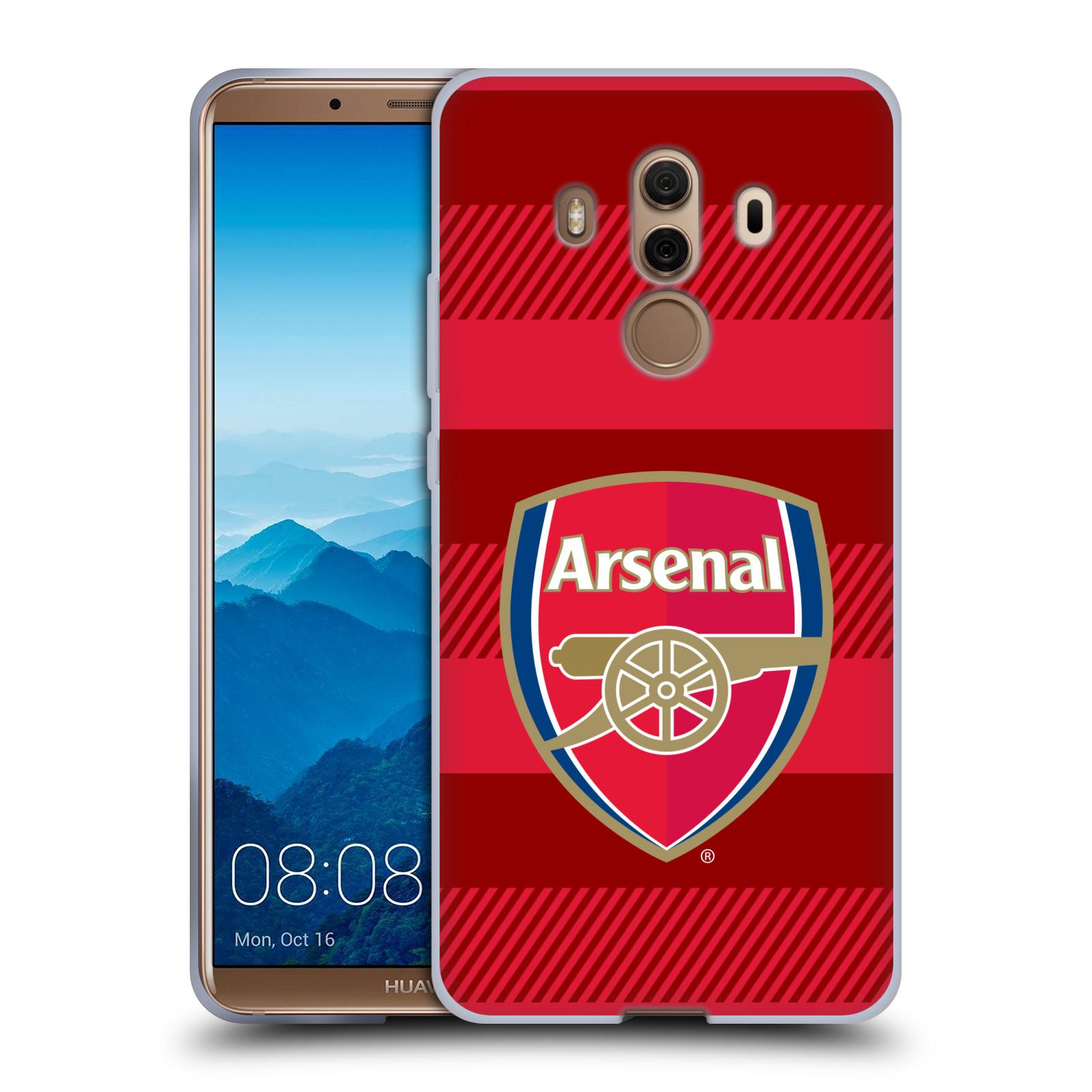 Silikonové pouzdro na mobil Huawei Mate 10 Pro - Head Case - Arsenal FC - Logo s pruhy