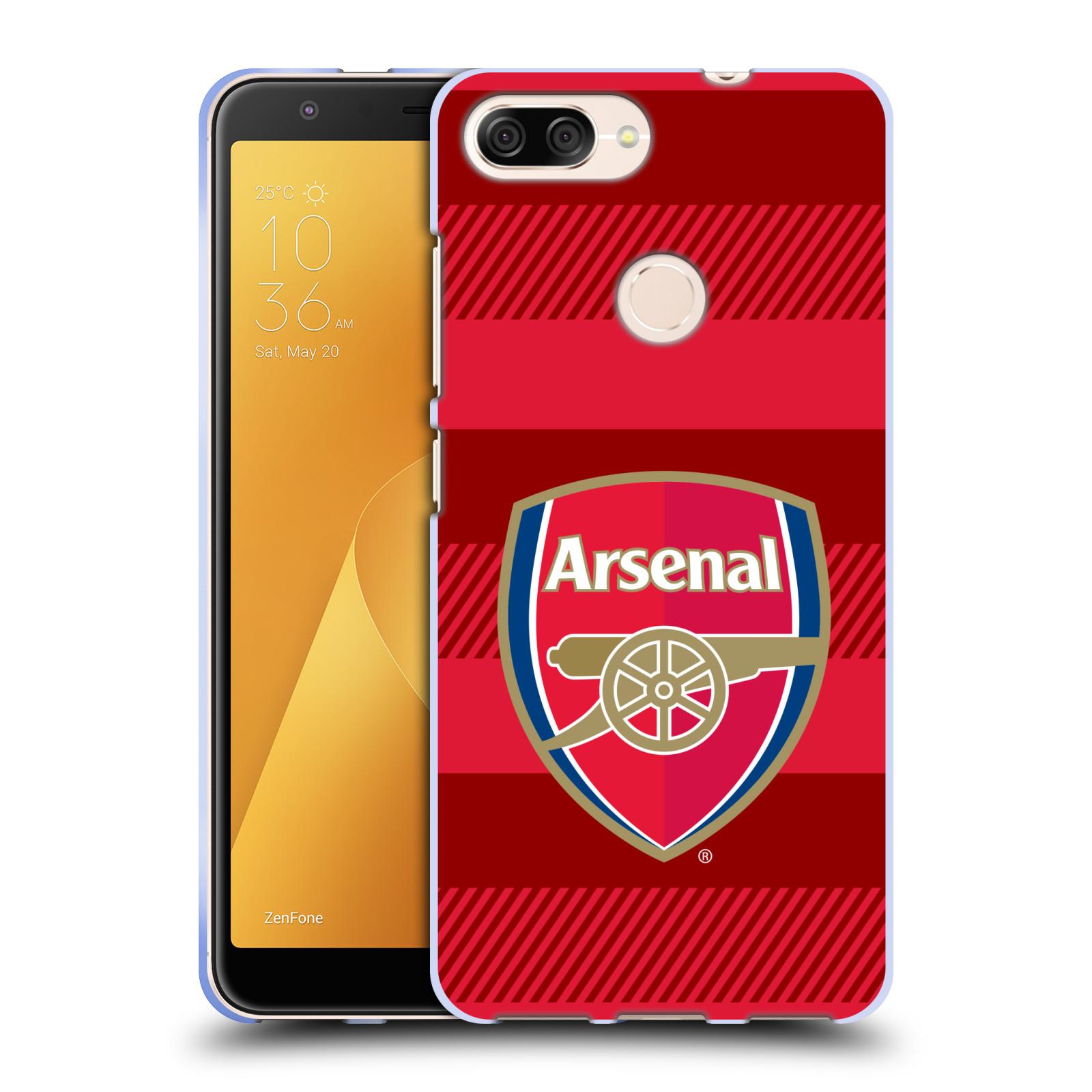 Silikonové pouzdro na mobil Asus ZenFone Max Plus (M1) - Head Case - Arsenal FC - Logo s pruhy