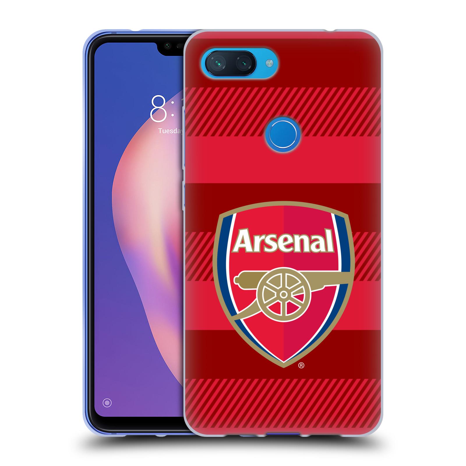 Silikonové pouzdro na mobil Xiaomi Mi 8 Lite - Head Case - Arsenal FC - Logo s pruhy