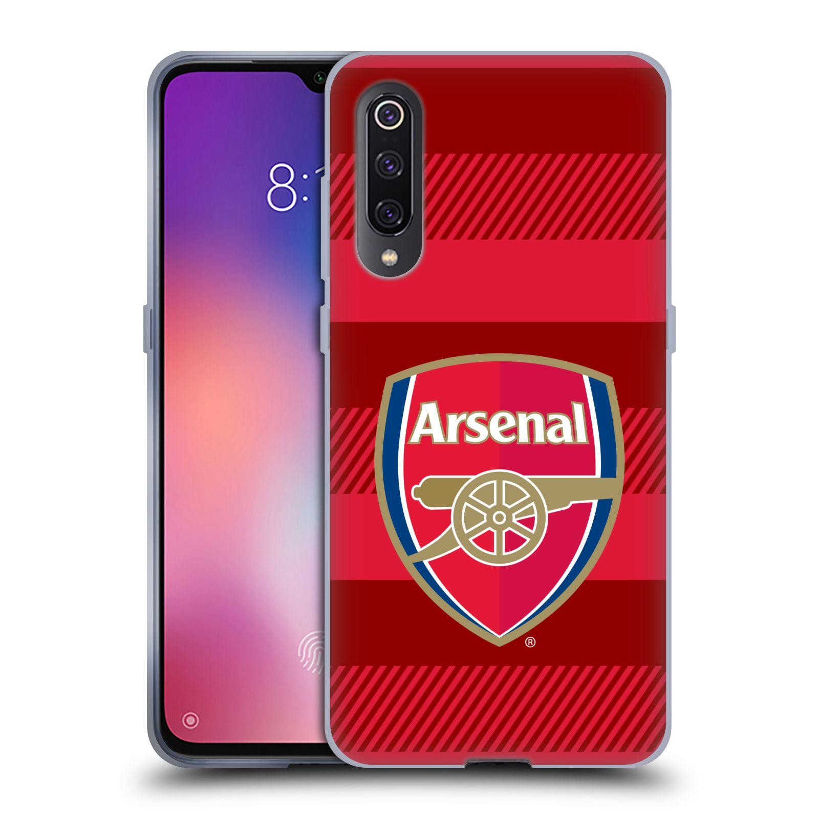 Silikonové pouzdro na mobil Xiaomi Mi 9 - Head Case - Arsenal FC - Logo s pruhy