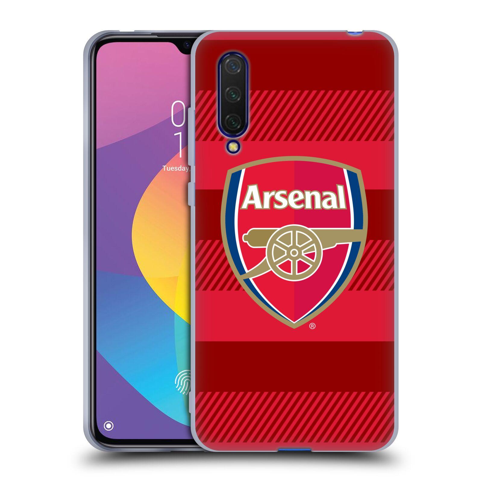 Silikonové pouzdro na mobil Xiaomi Mi 9 Lite - Head Case - Arsenal FC - Logo s pruhy