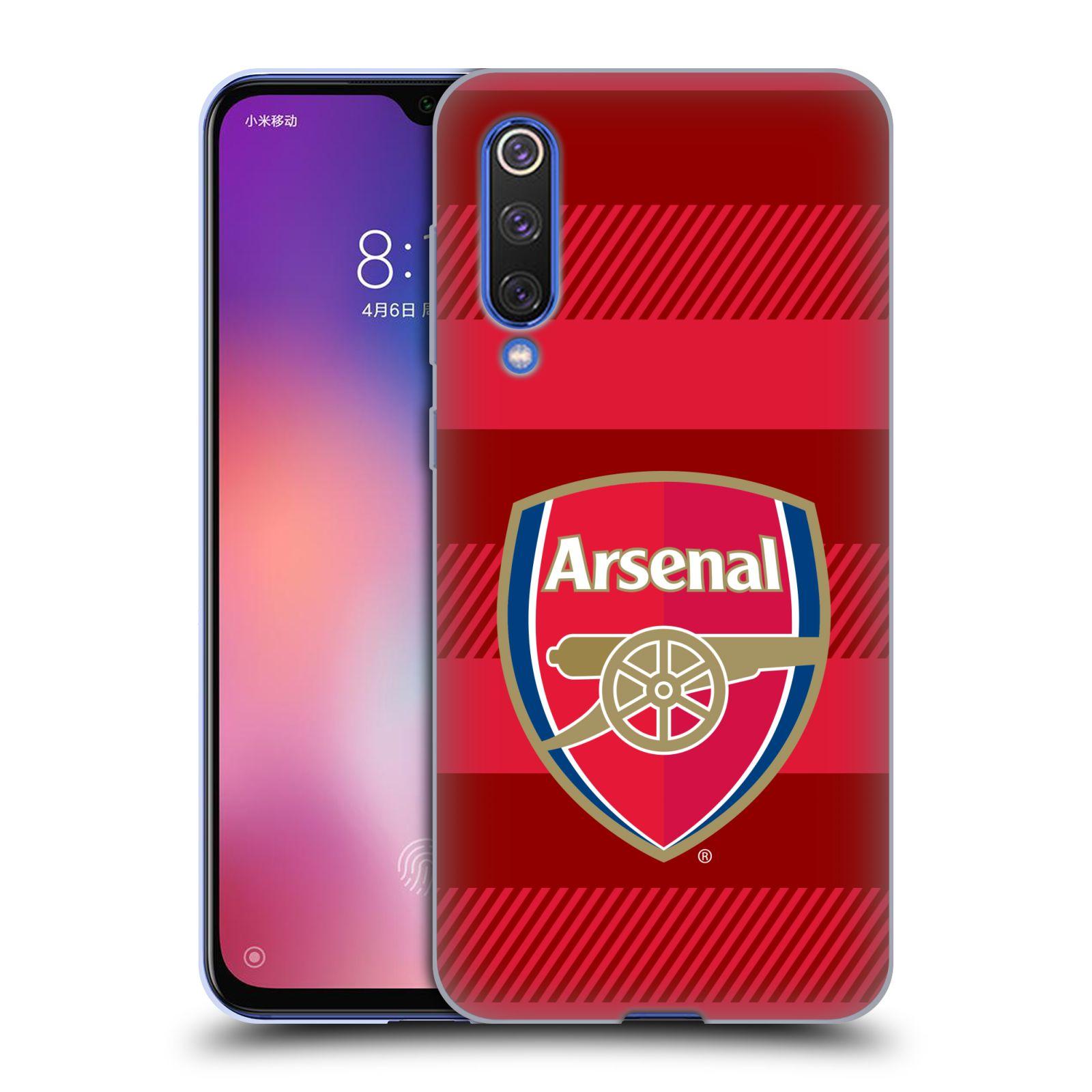 Silikonové pouzdro na mobil Xiaomi Mi 9 SE - Head Case - Arsenal FC - Logo s pruhy