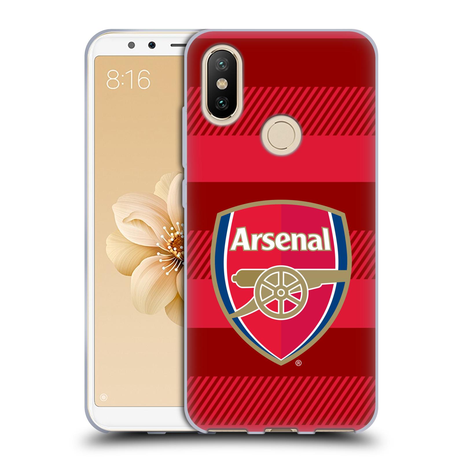 Silikonové pouzdro na mobil Xiaomi Mi A2 - Head Case - Arsenal FC - Logo s pruhy