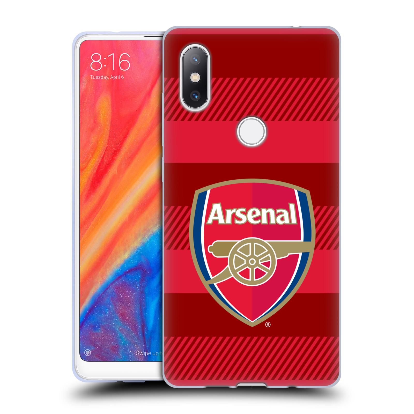 Silikonové pouzdro na mobil Xiaomi Mi Mix 2S - Head Case - Arsenal FC - Logo s pruhy