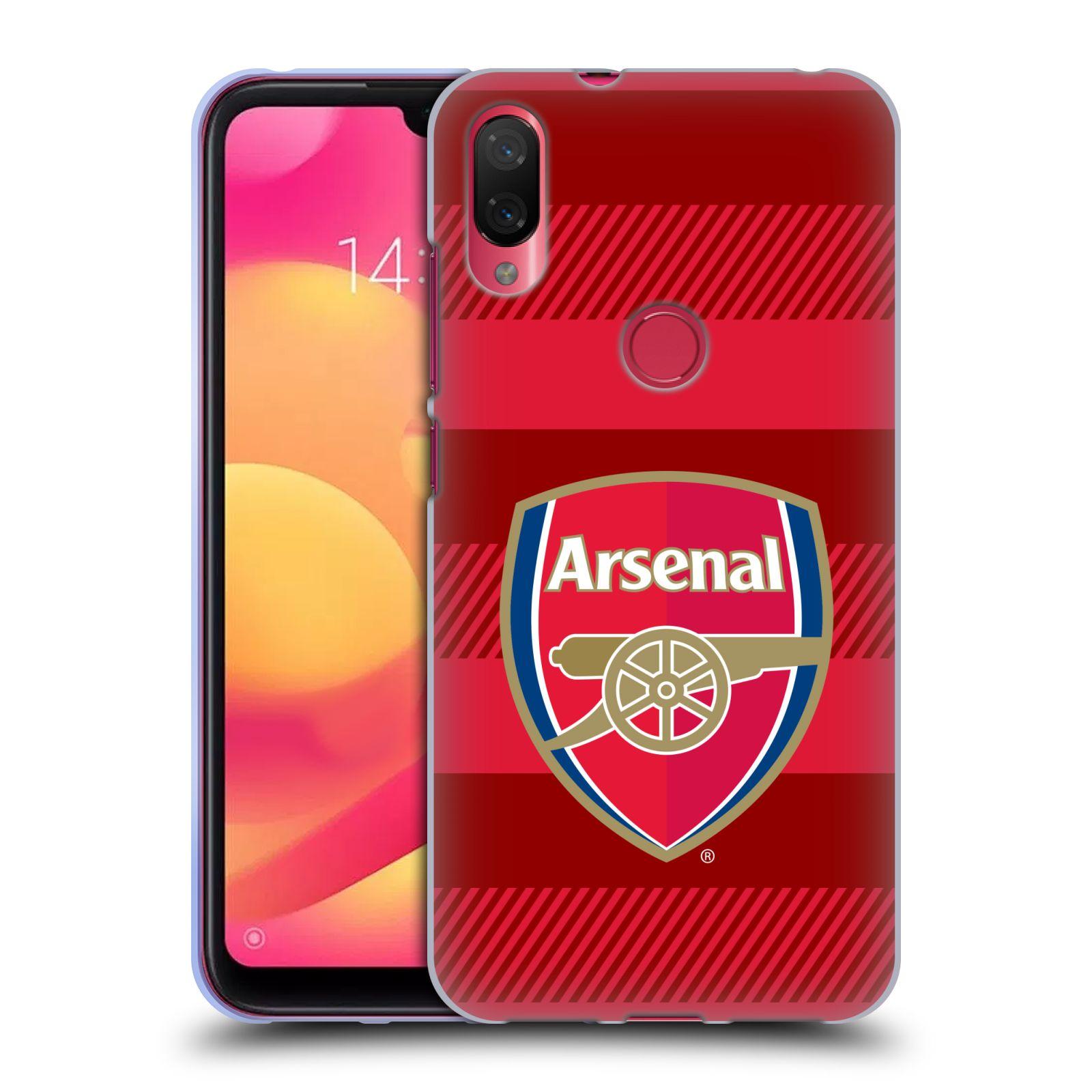 Silikonové pouzdro na mobil Xiaomi Mi Play - Head Case - Arsenal FC - Logo s pruhy