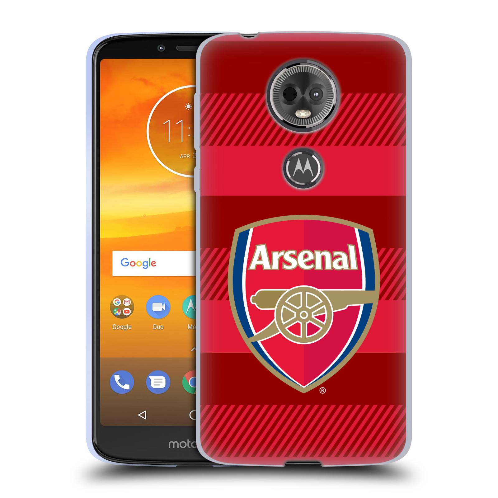Silikonové pouzdro na mobil Motorola Moto E5 Plus - Head Case - Arsenal FC - Logo s pruhy