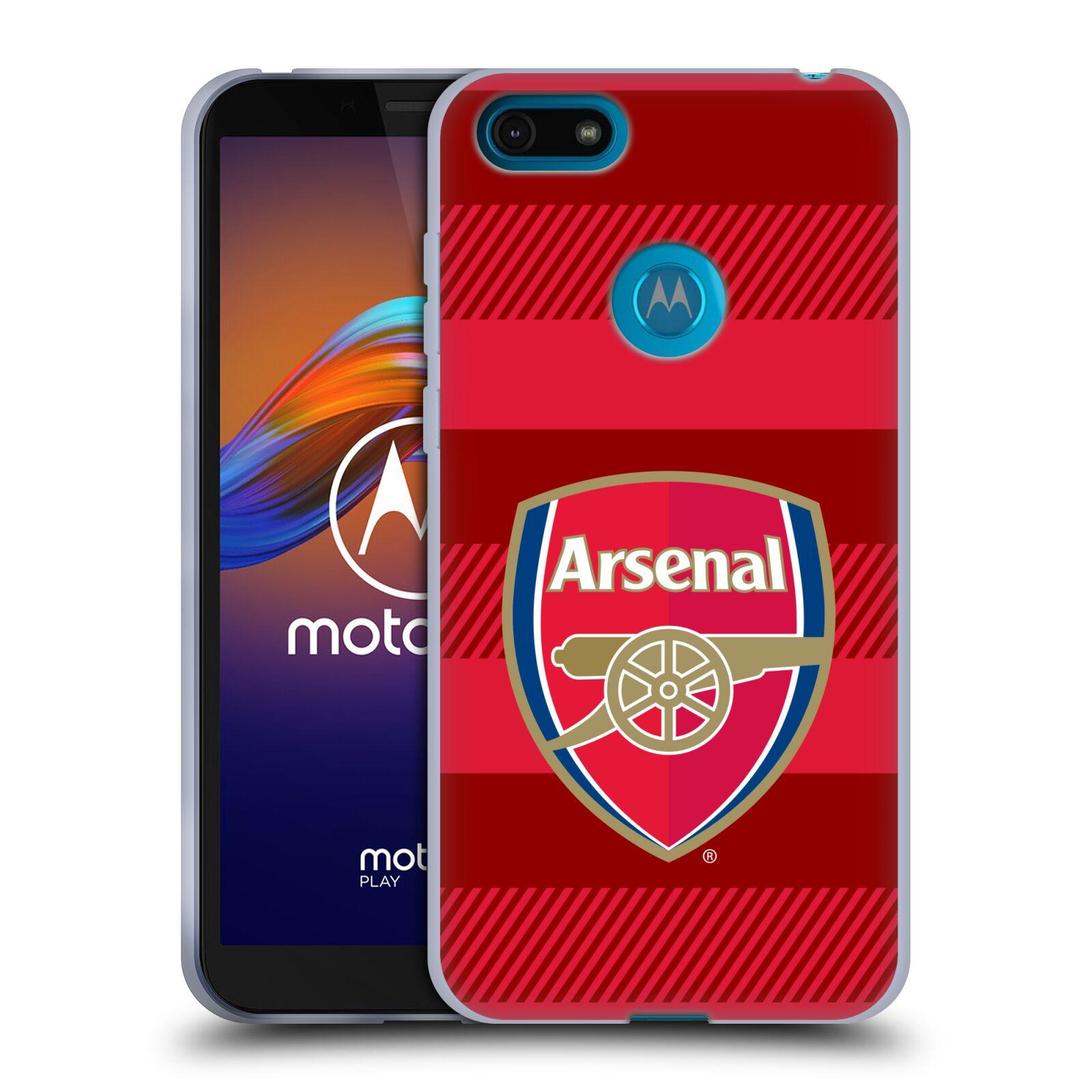 Silikonové pouzdro na mobil Motorola Moto E6 Play - Head Case - Arsenal FC - Logo s pruhy