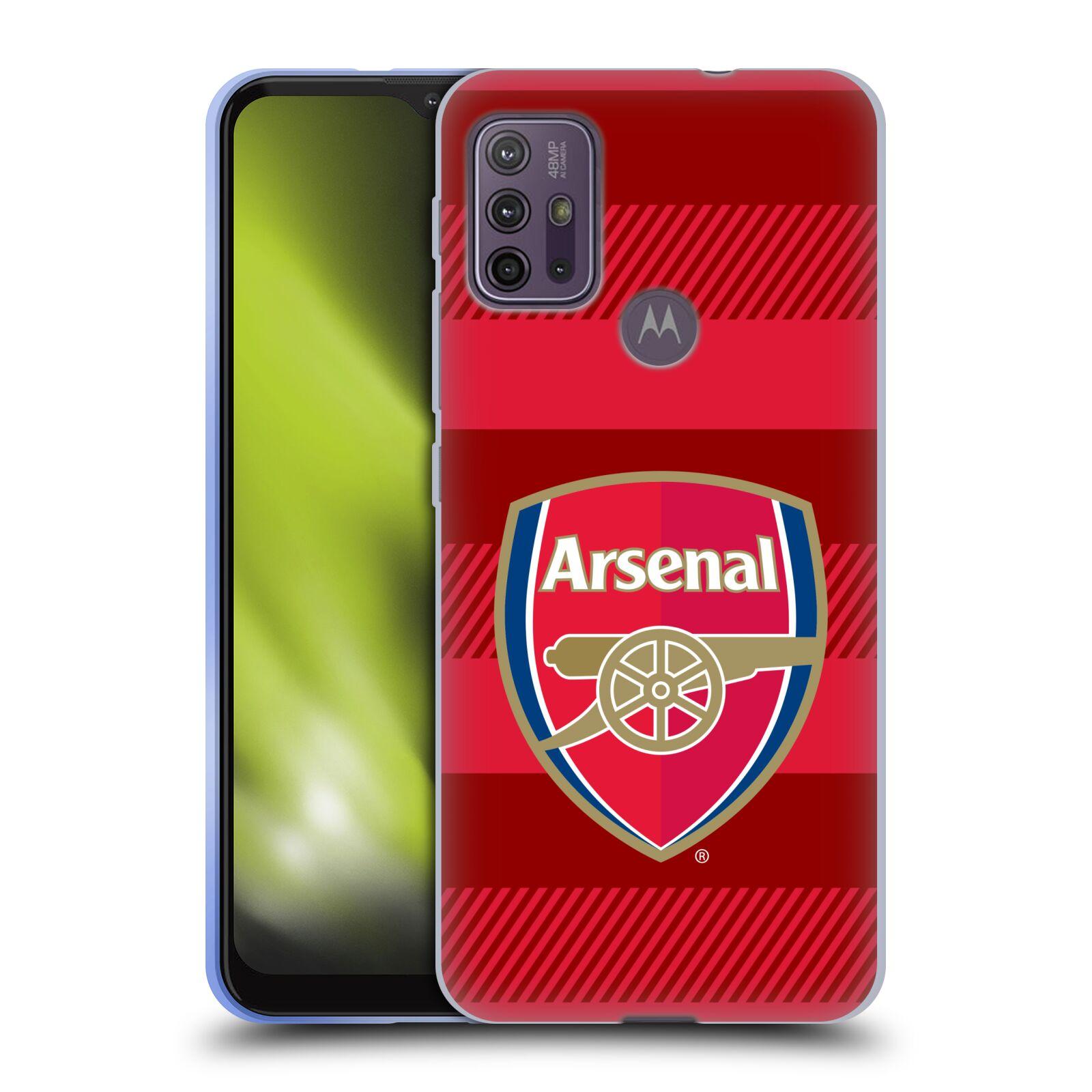 Silikonové pouzdro na mobil Motorola Moto G10 / G30 - Head Case - Arsenal FC - Logo s pruhy