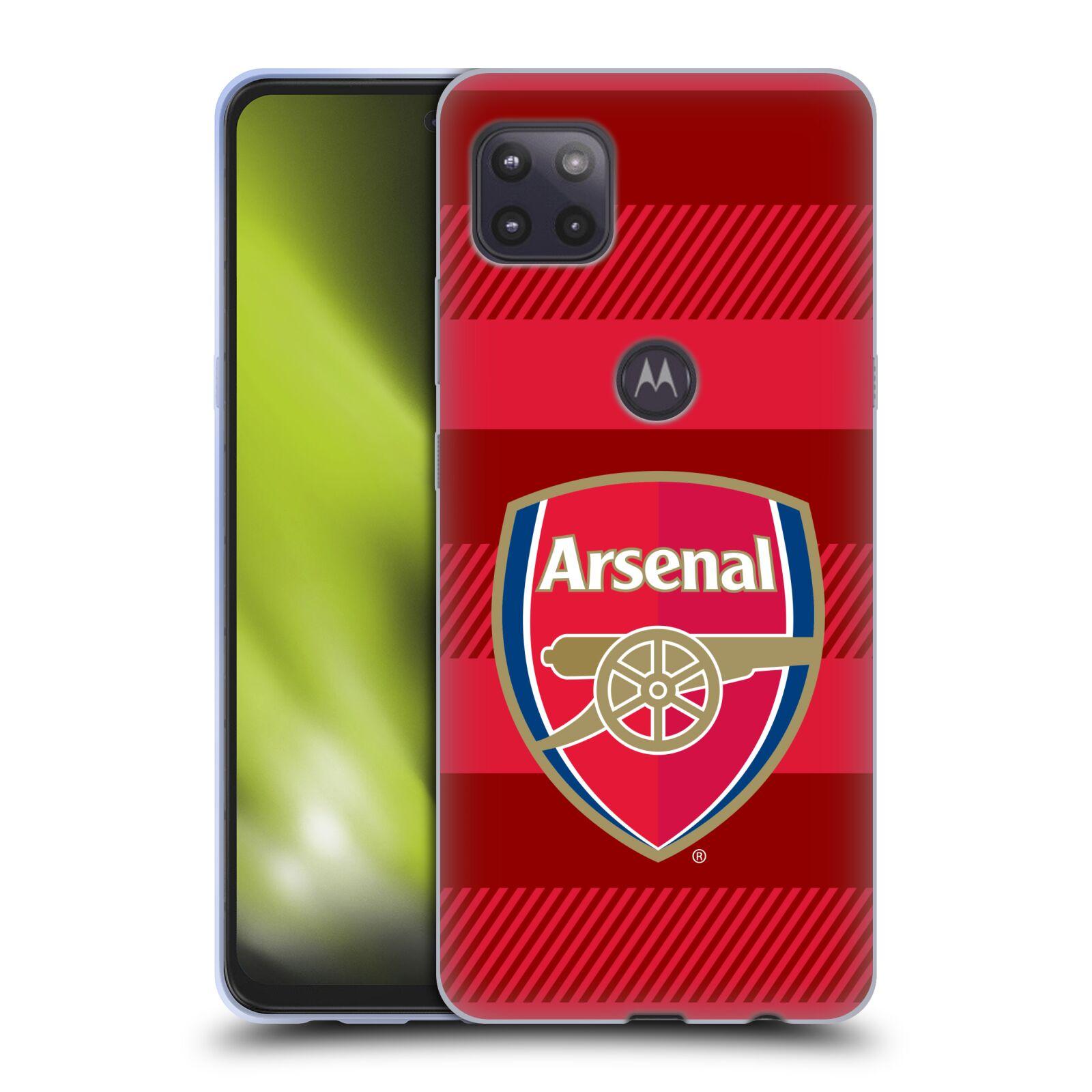 Silikonové pouzdro na mobil Motorola Moto G 5G - Head Case - Arsenal FC - Logo s pruhy