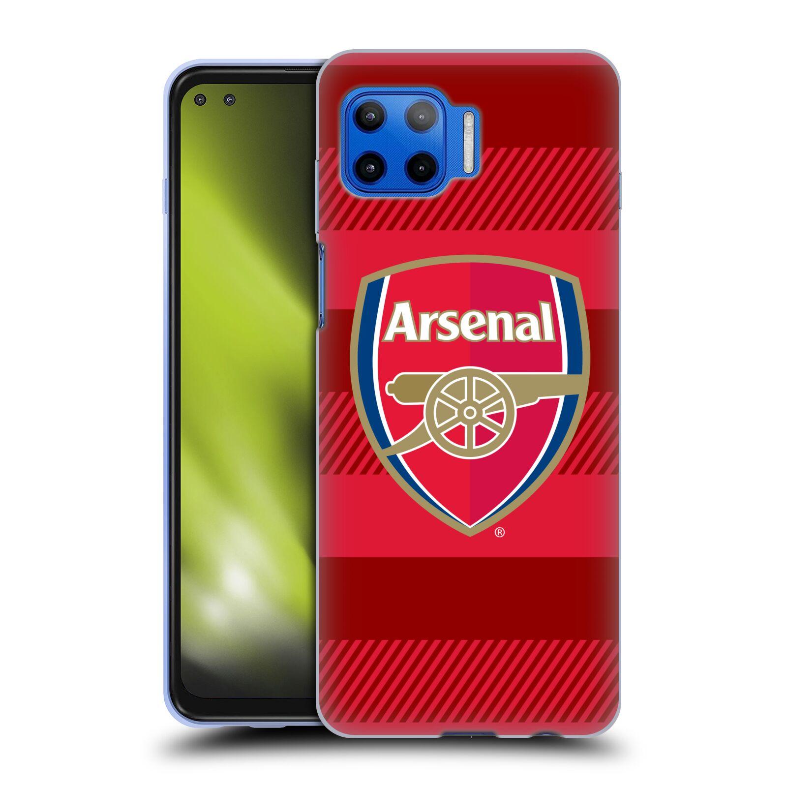 Silikonové pouzdro na mobil Motorola Moto G 5G Plus - Head Case - Arsenal FC - Logo s pruhy