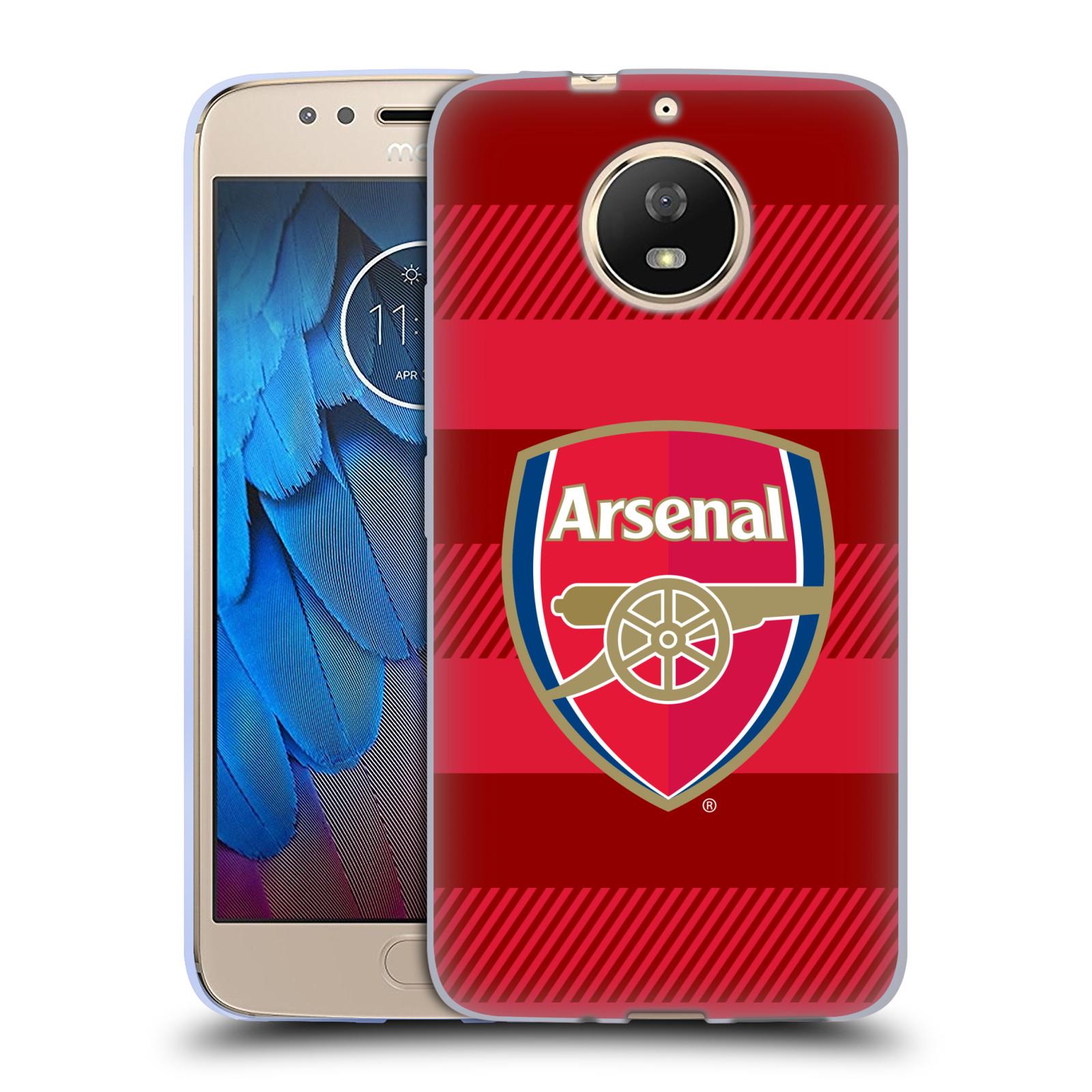 Silikonové pouzdro na mobil Lenovo Moto G5s - Head Case - Arsenal FC - Logo s pruhy
