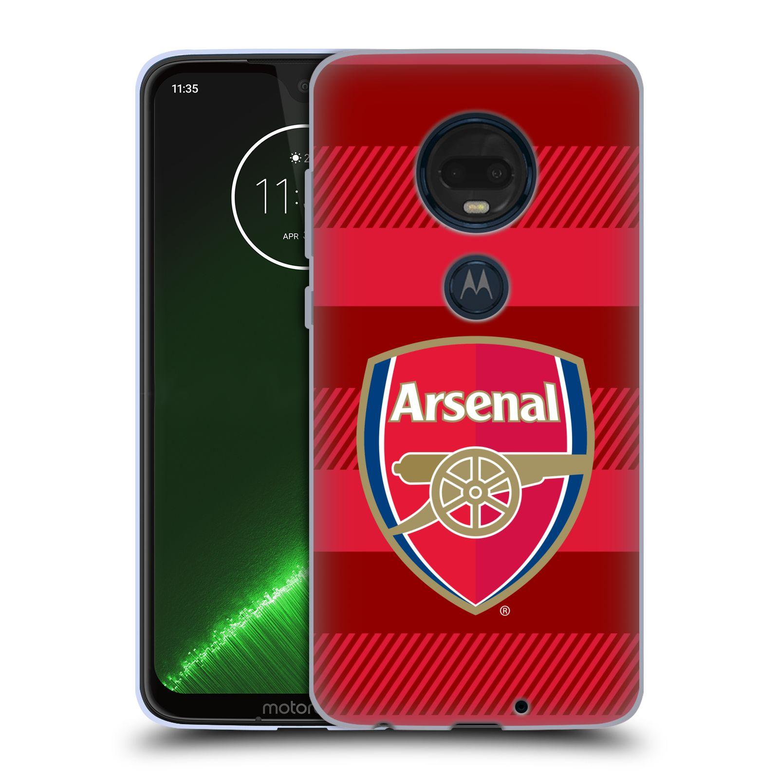Silikonové pouzdro na mobil Motorola Moto G7 Plus - Head Case - Arsenal FC - Logo s pruhy