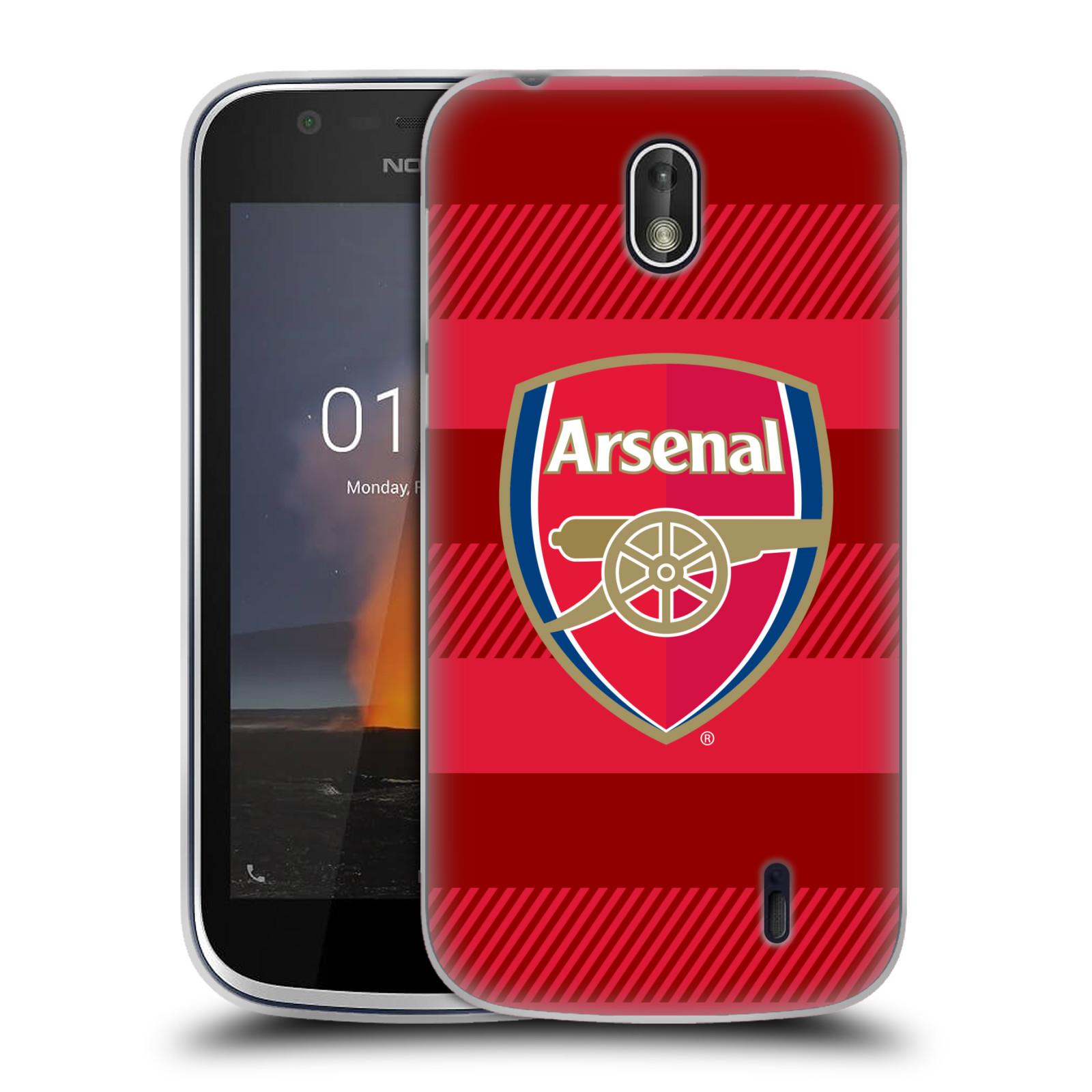 Silikonové pouzdro na mobil Nokia 1 - Head Case - Arsenal FC - Logo s pruhy