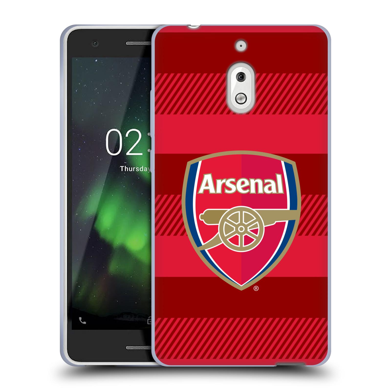 Silikonové pouzdro na mobil Nokia 2.1 - Head Case - Arsenal FC - Logo s pruhy