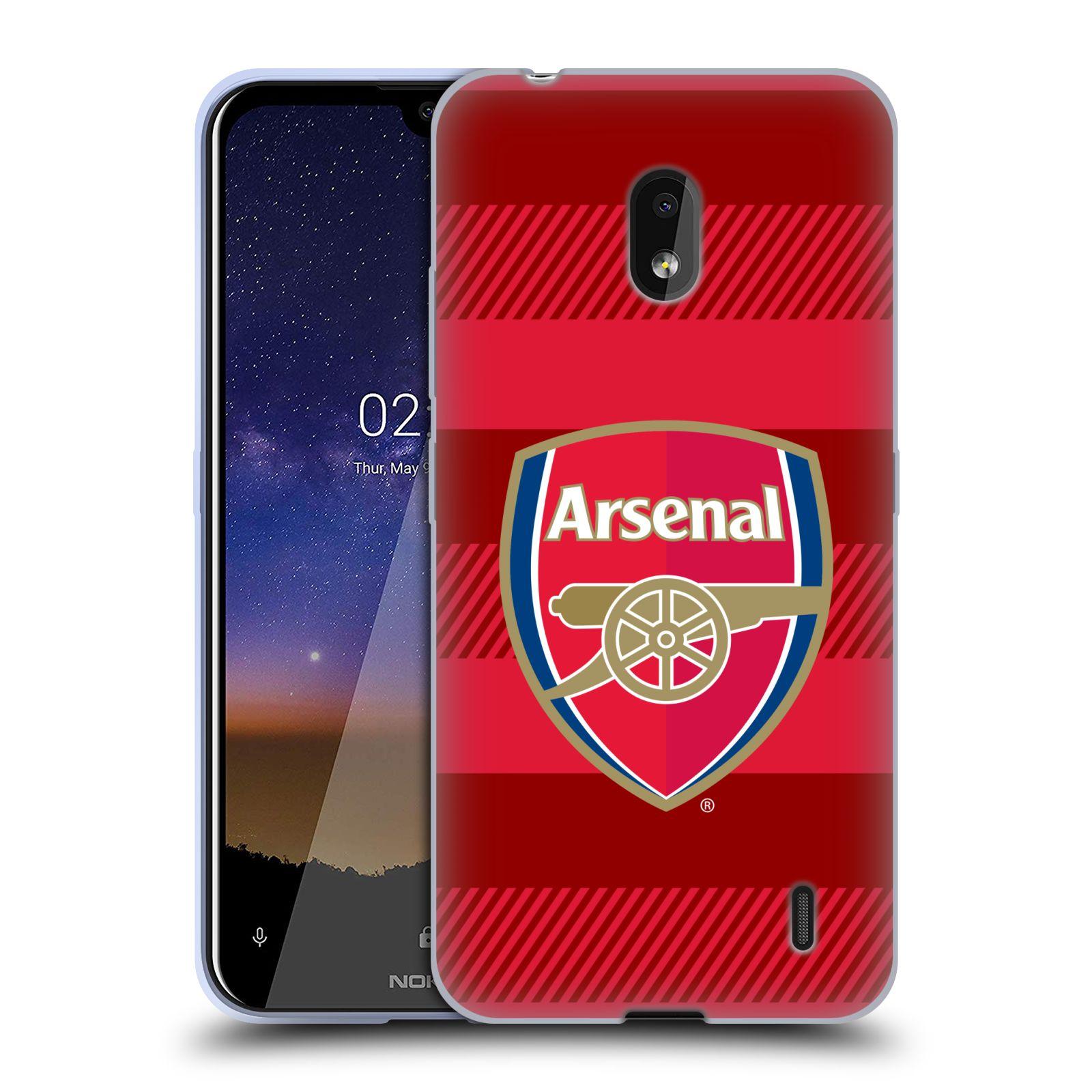 Silikonové pouzdro na mobil Nokia 2.2 - Head Case - Arsenal FC - Logo s pruhy