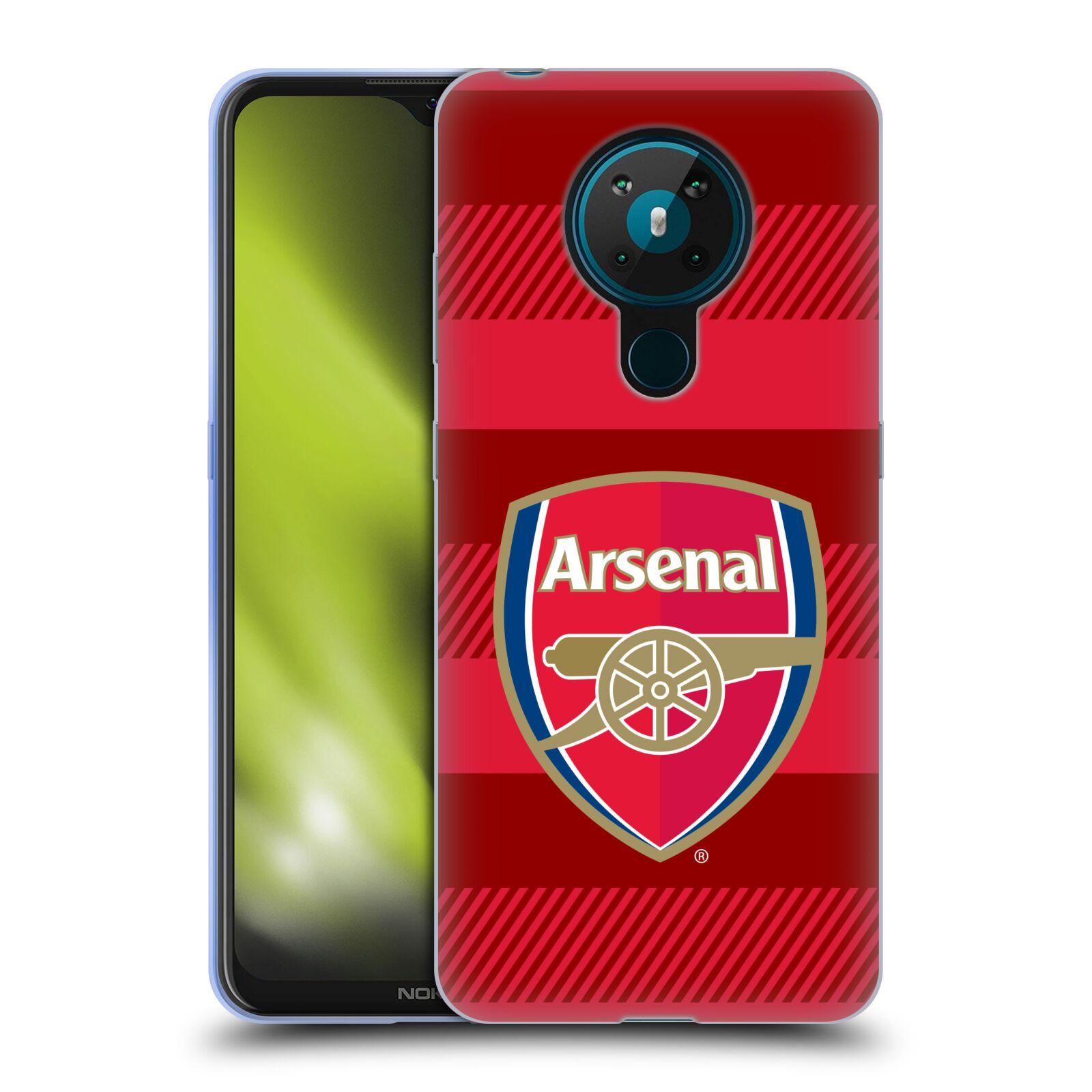 Silikonové pouzdro na mobil Nokia 5.3 - Head Case - Arsenal FC - Logo s pruhy