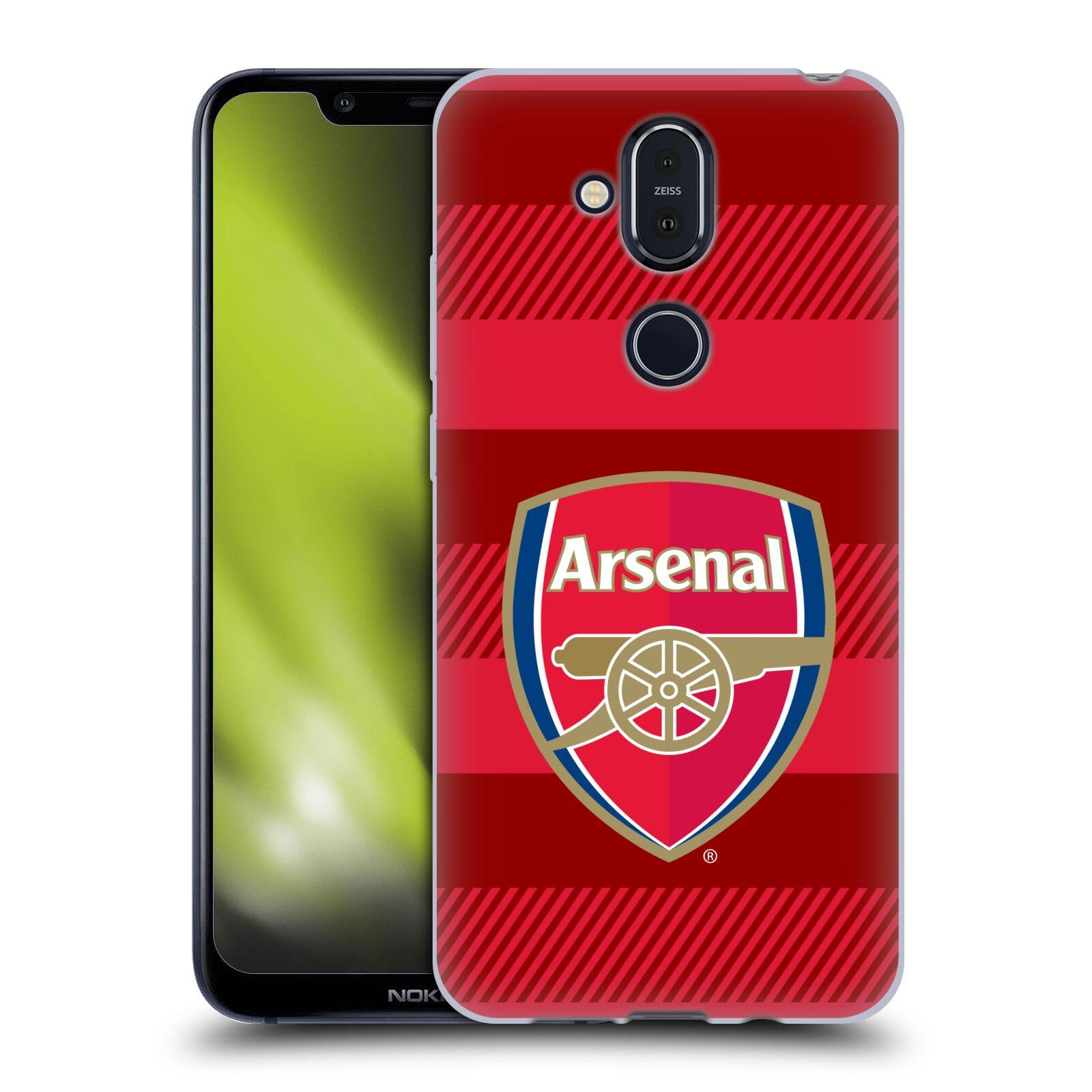 Silikonové pouzdro na mobil Nokia 8.1 - Head Case - Arsenal FC - Logo s pruhy